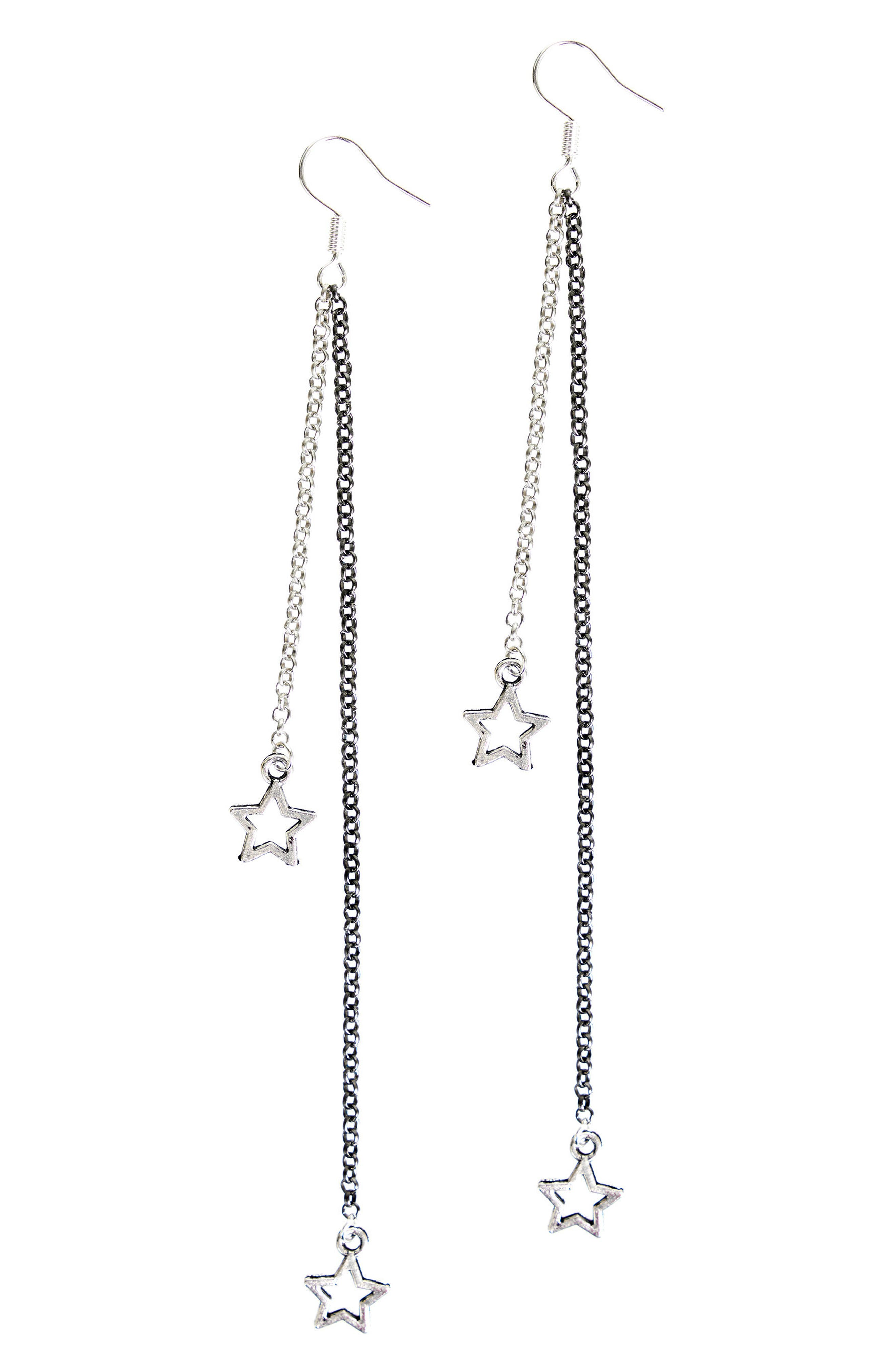 The Vela Star Drop Earrings,                         Main,                         color, Silver