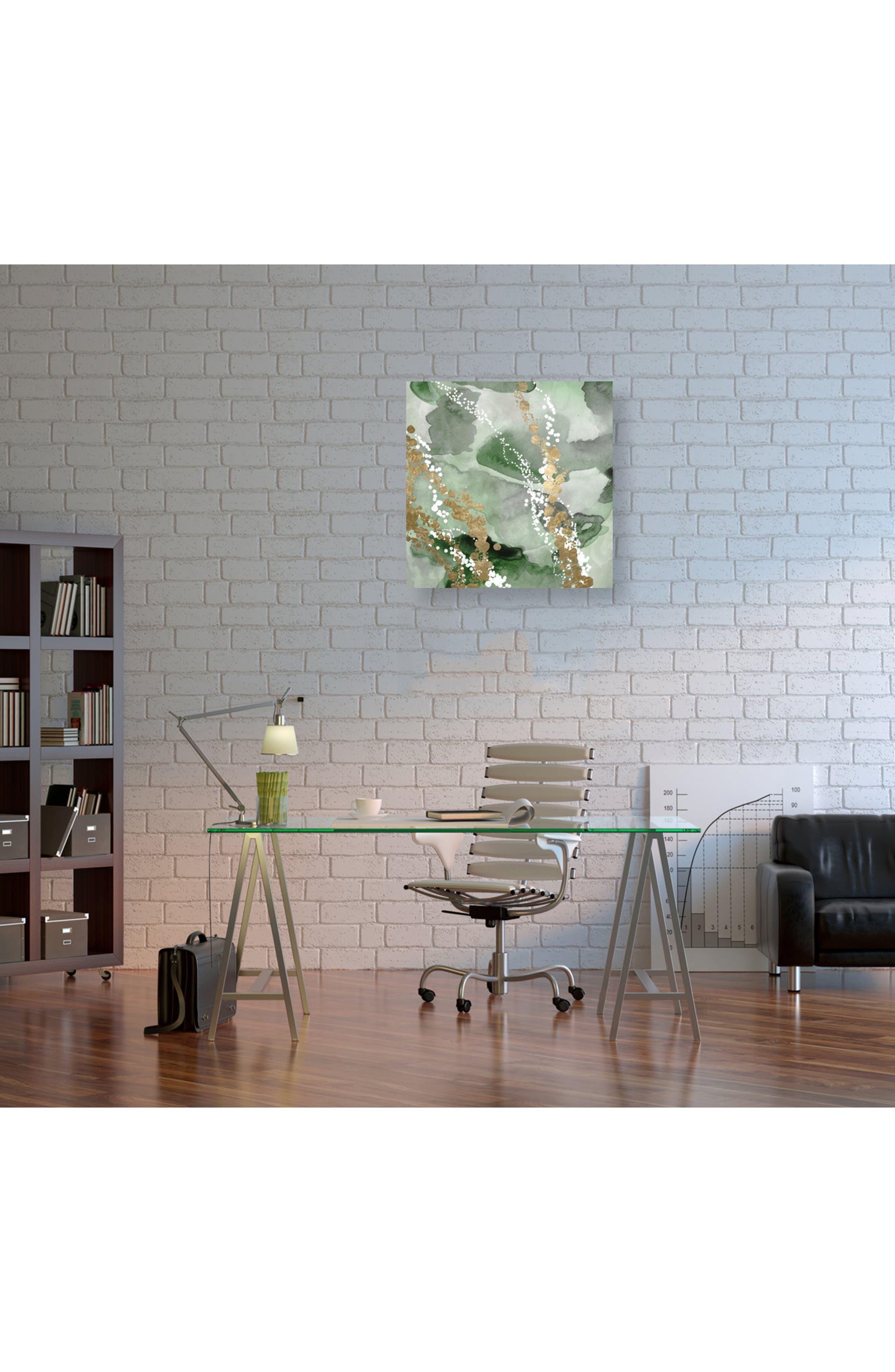 Even More Love Green Canvas Wall Art,                             Alternate thumbnail 2, color,                             Green