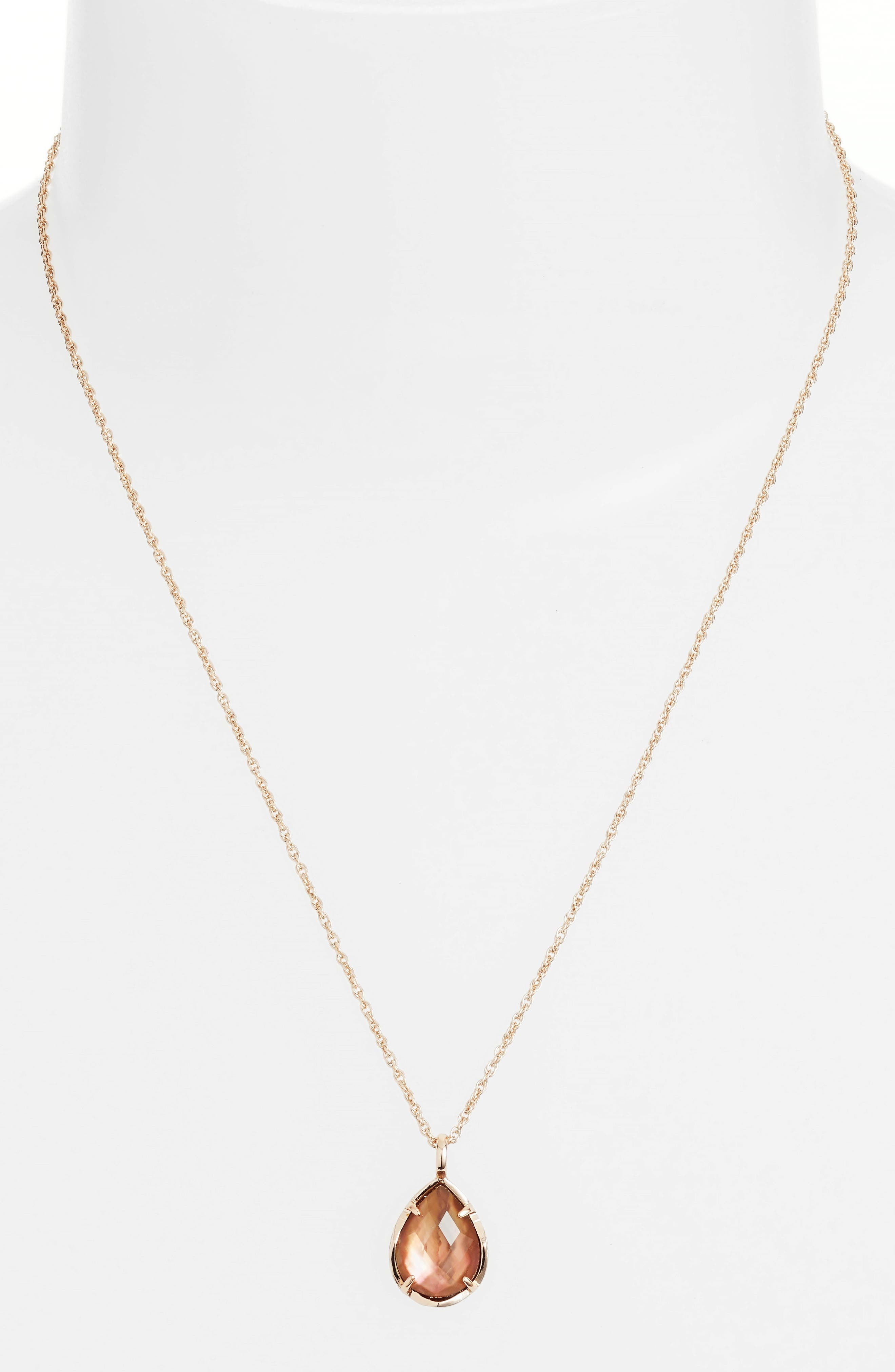 Alternate Image 2  - Kendra Scott Kiri Teardrop Pendant Necklace