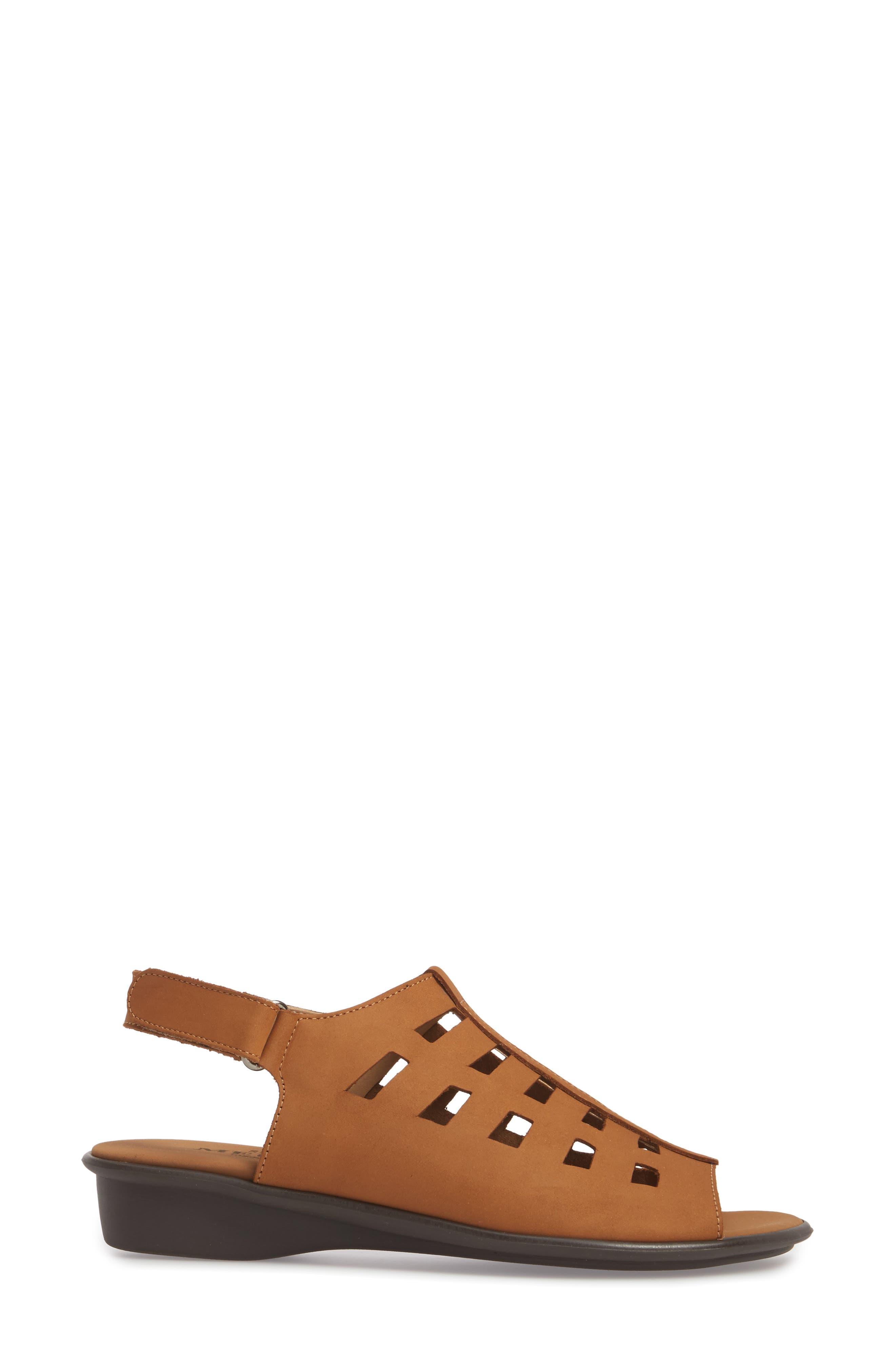 Elita Cutout Slingback Sandal,                             Alternate thumbnail 3, color,                             Viso Nubuck