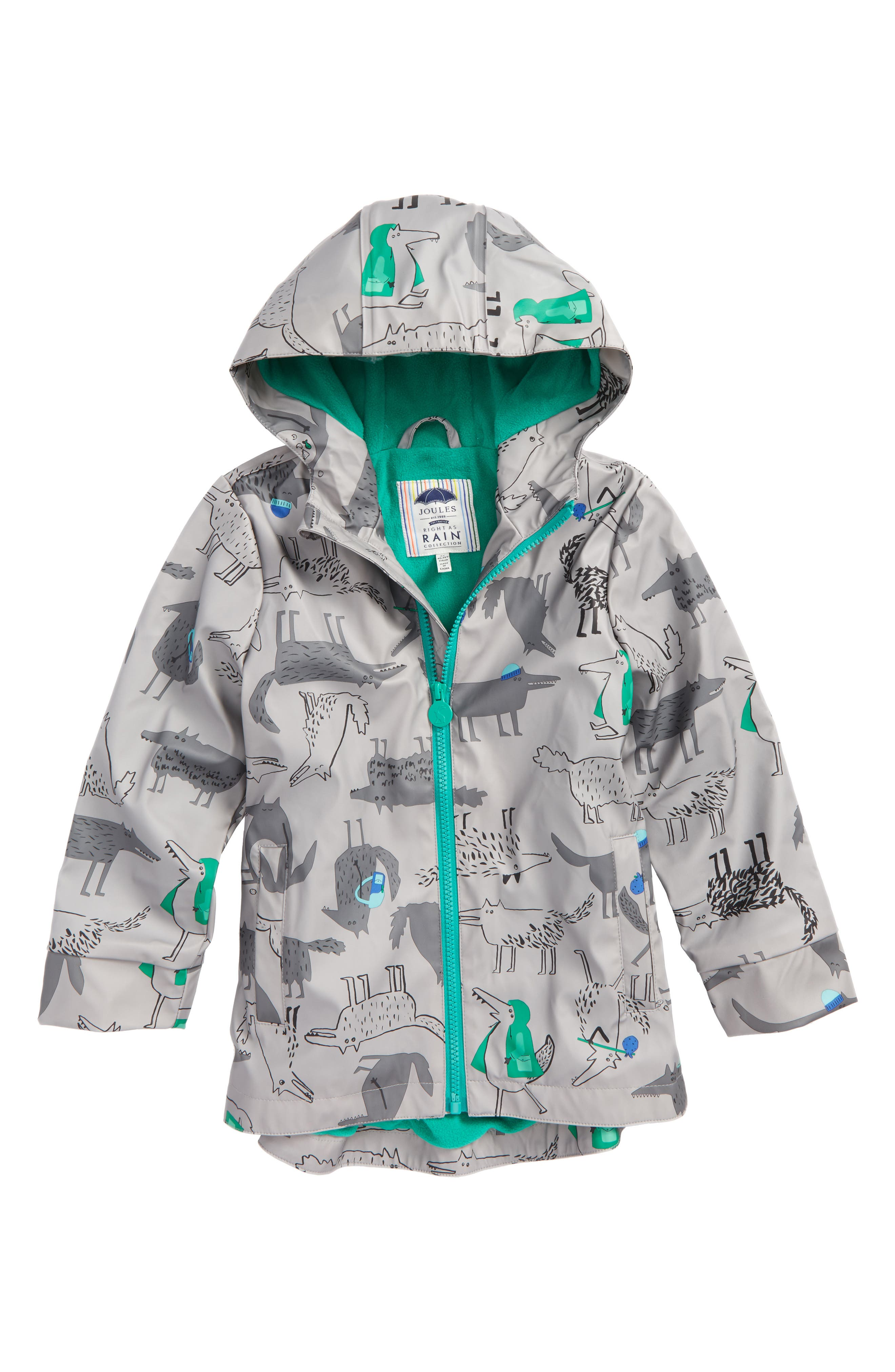Joules Fleece Lined Rain Jacket (Toddler Boys & Little Boys)