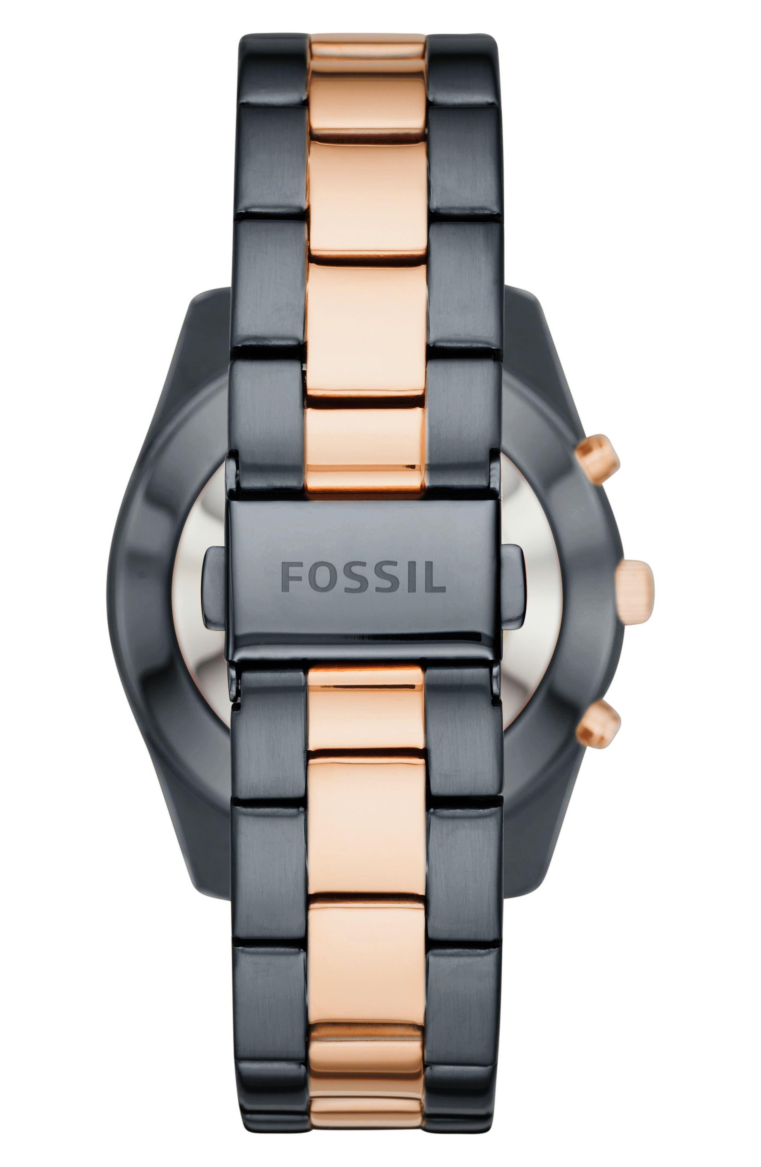 Scarlette Smart Bracelet Watch, 38mm,                             Alternate thumbnail 3, color,                             Blue/ Rose Gold