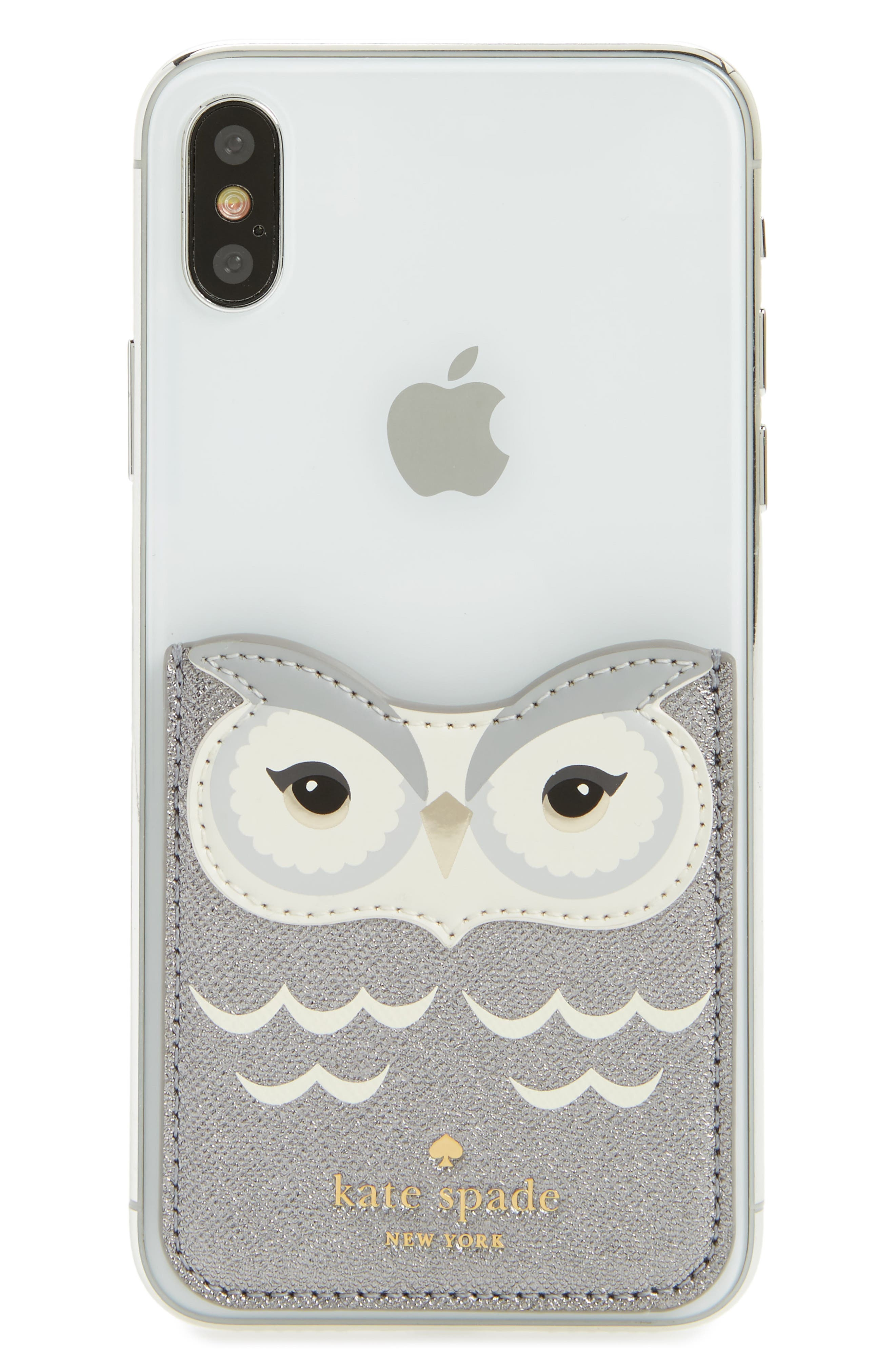 kate spade new york owl smartphone sticker pocket