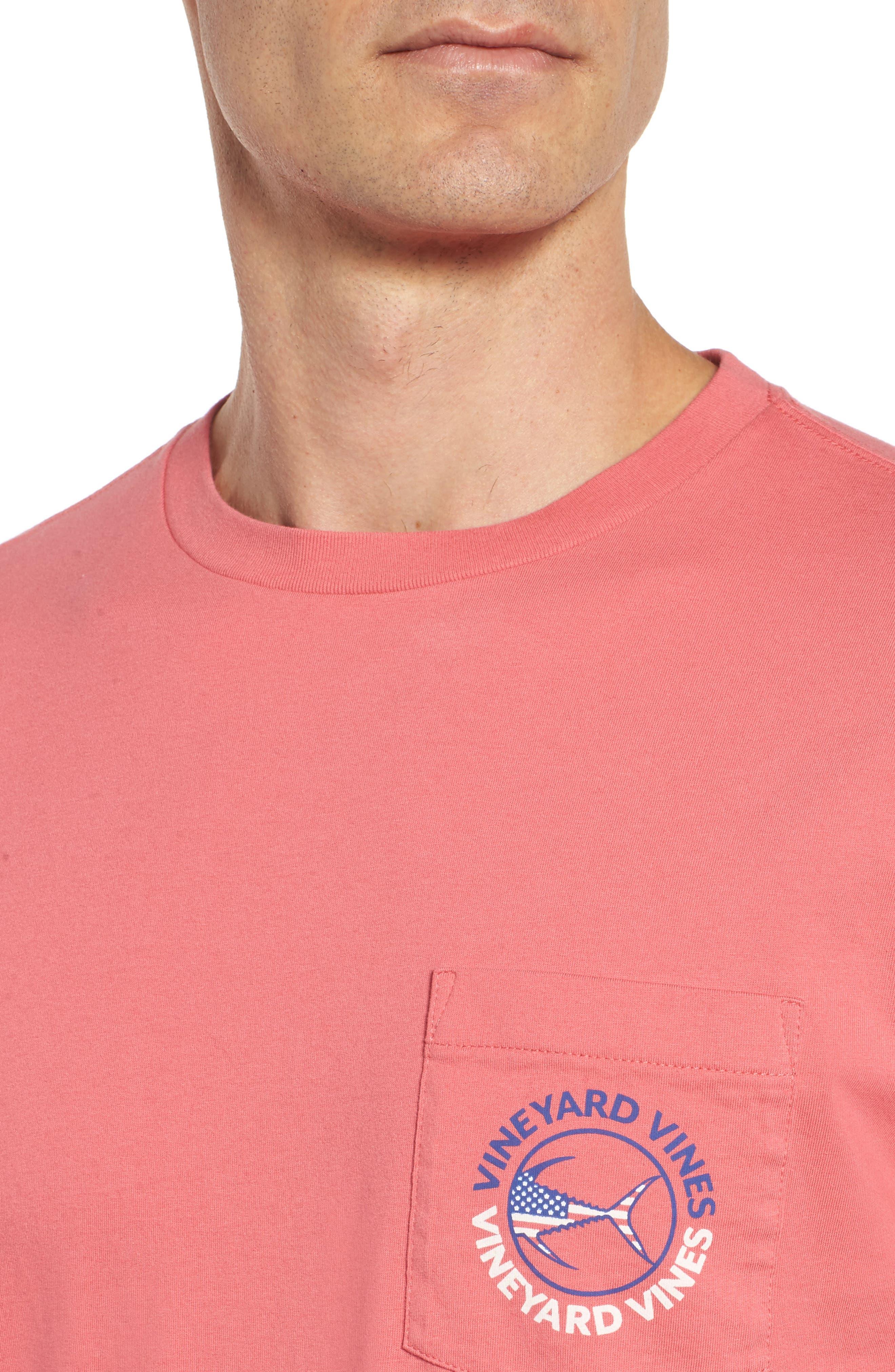 Alternate Image 4  - vineyard vines USA Tuna Graphic Pocket T-Shirt