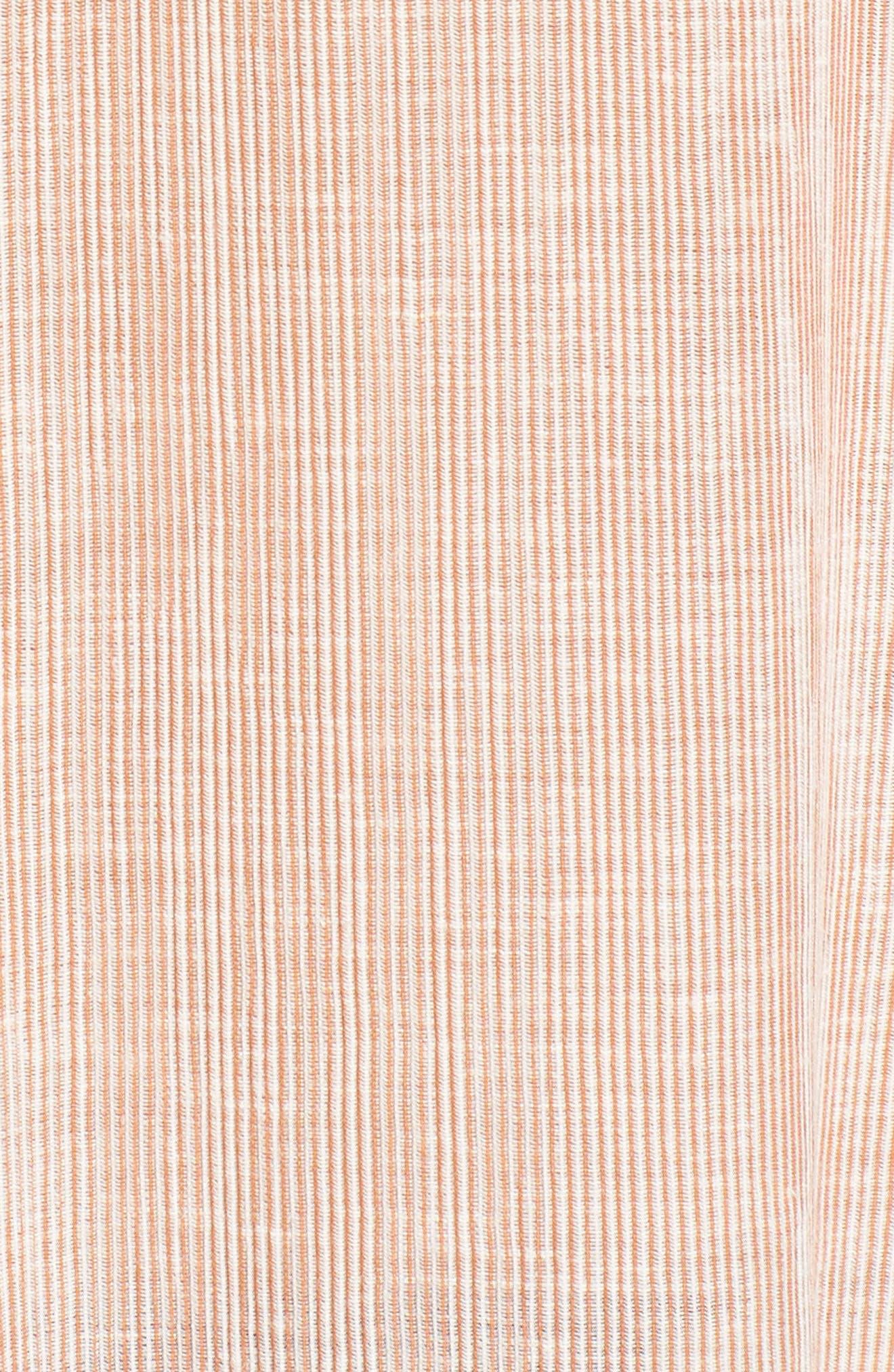 Audryn Crinkle Top,                             Alternate thumbnail 5, color,                             Burnt Umber/ White