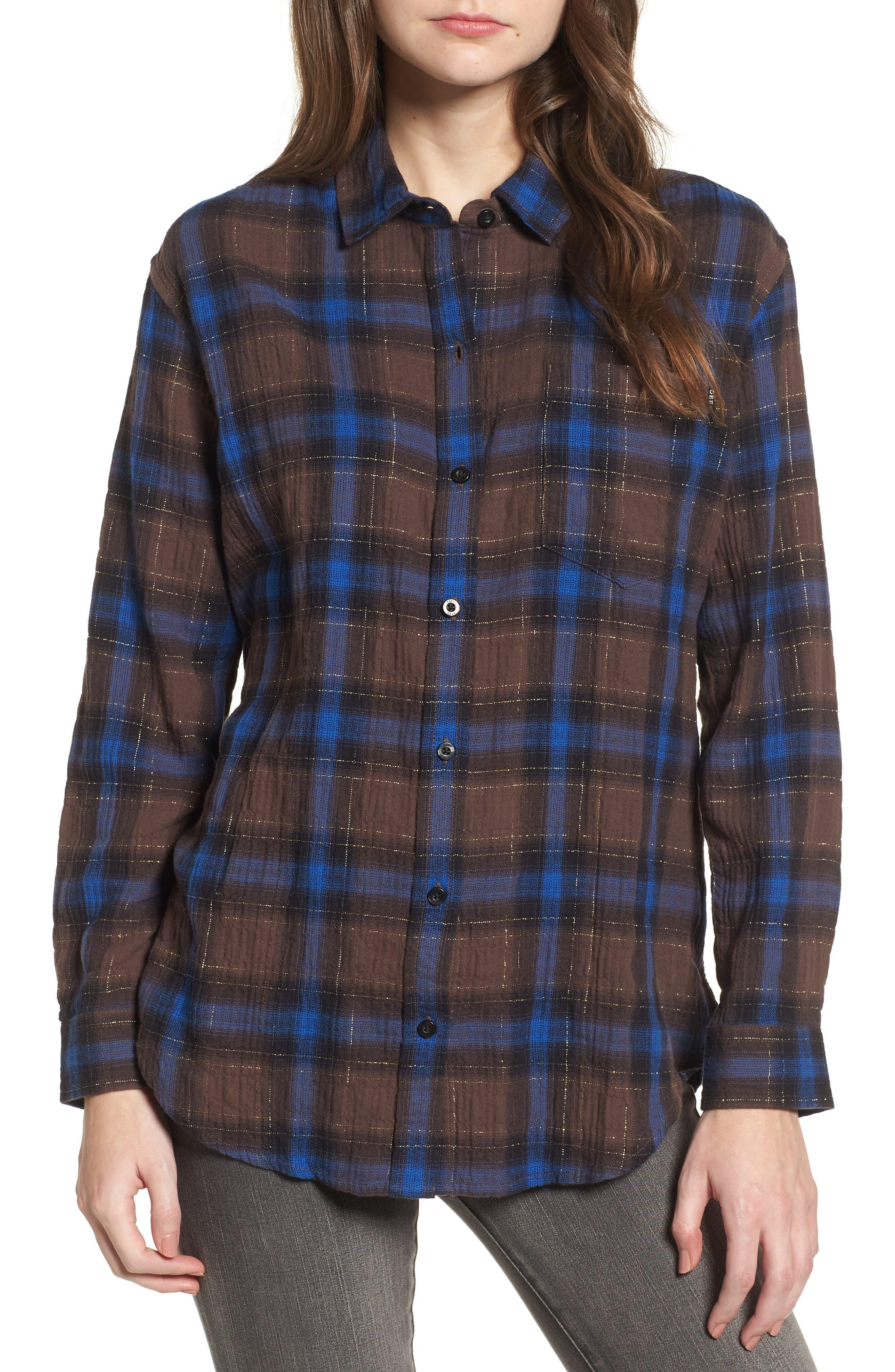 Eldorado Plaid Shirt,                             Main thumbnail 1, color,                             Brown Multi
