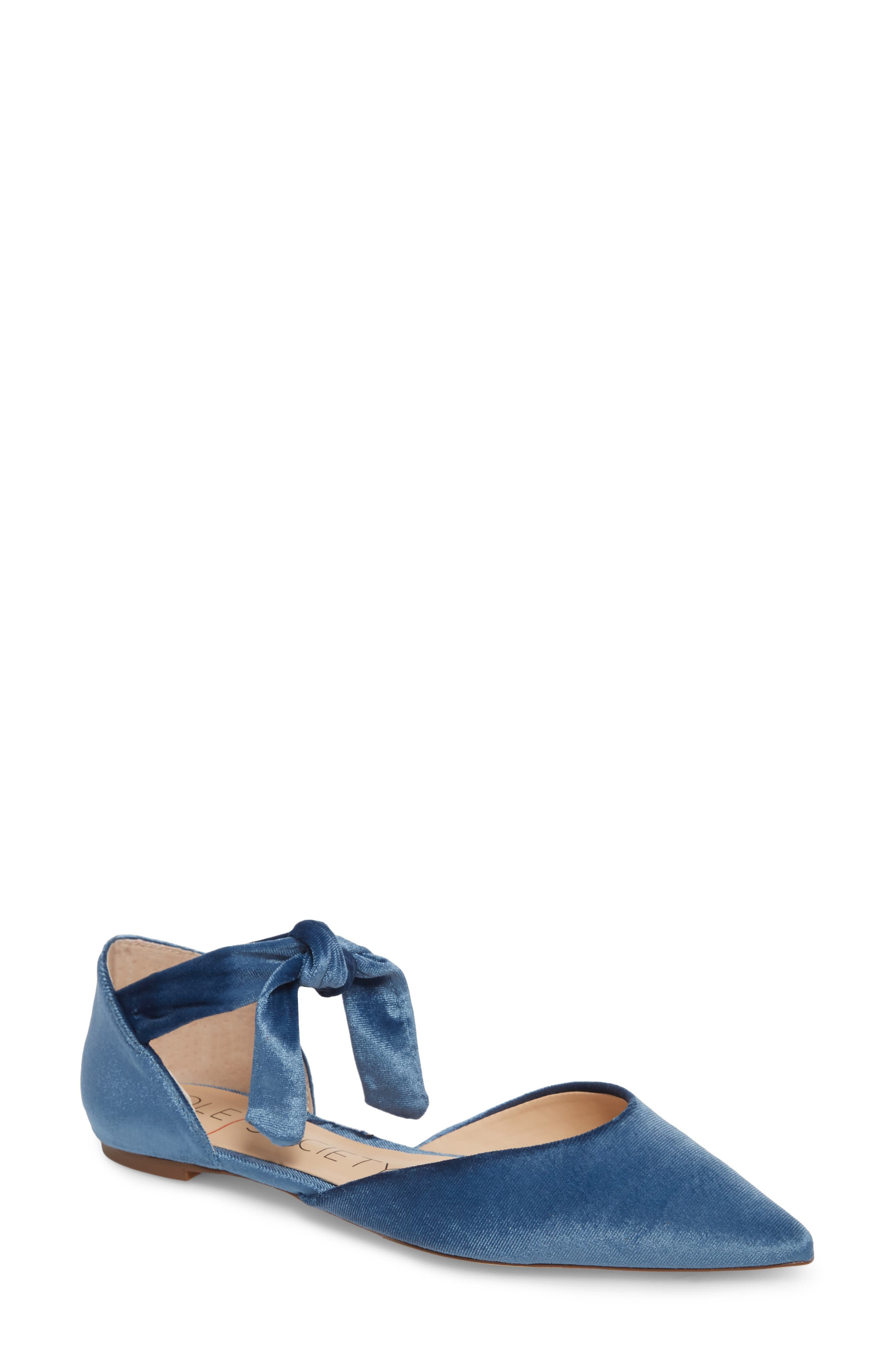 Alternate Image 1 Selected - Sole Society Teena d'Orsay Flat with Ties (Women)