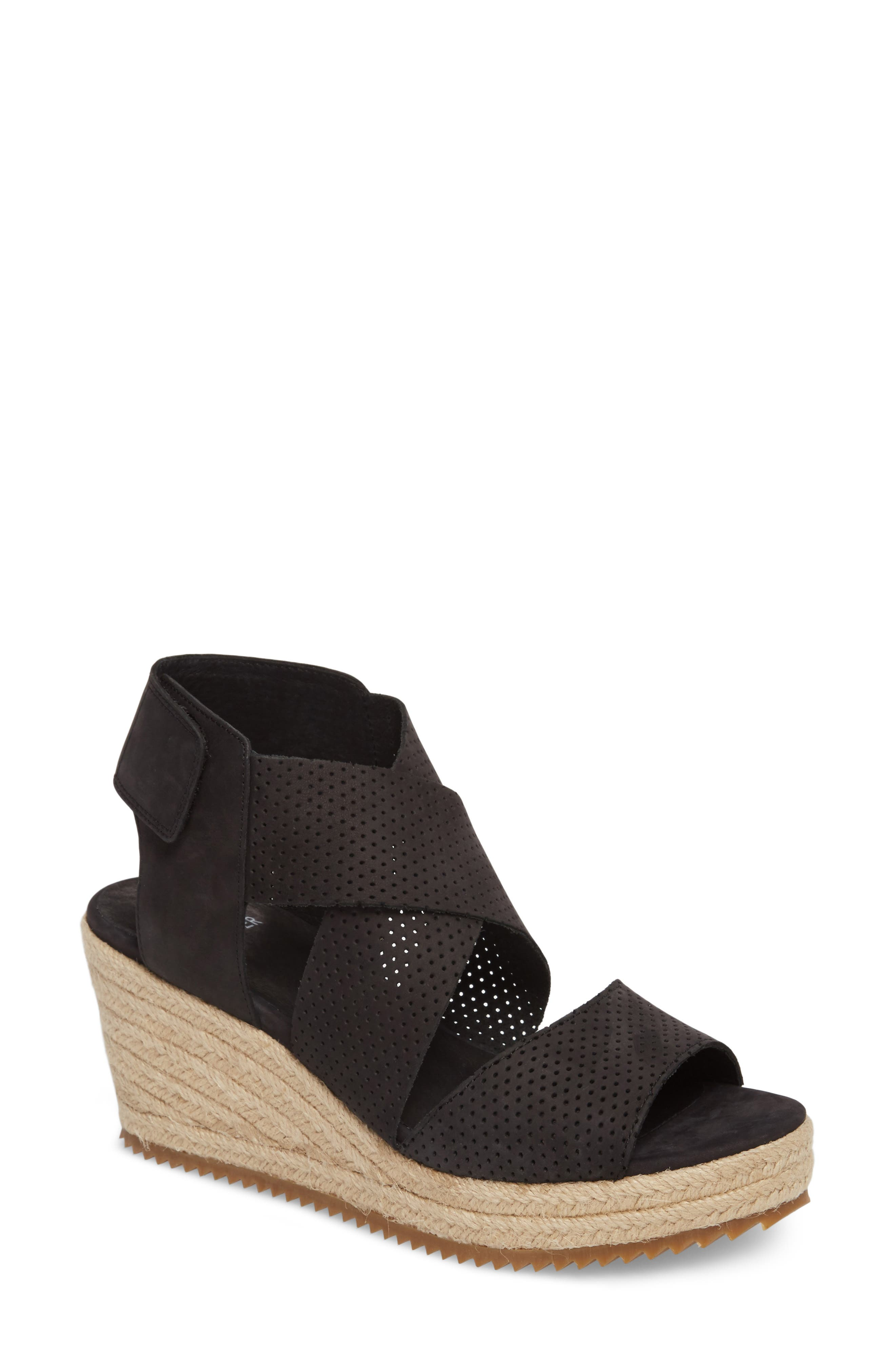 Eileen Fisher 'Willow' Espadrille Wedge Sandal (Women). Previous. BLACK  NUBUCK ...