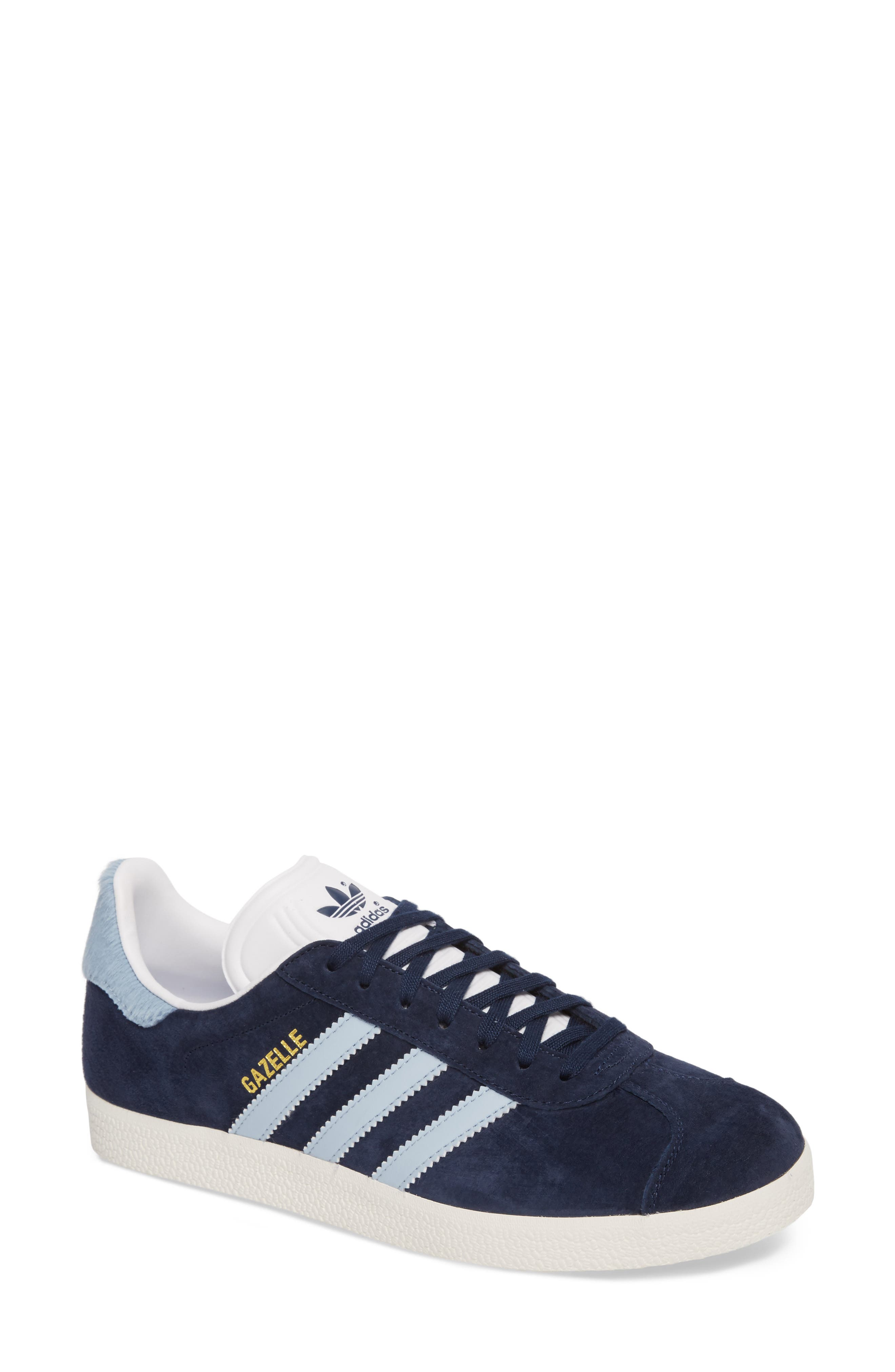 Gazelle Sneaker,                         Main,                         color, Navy/ Easy Blue/ White