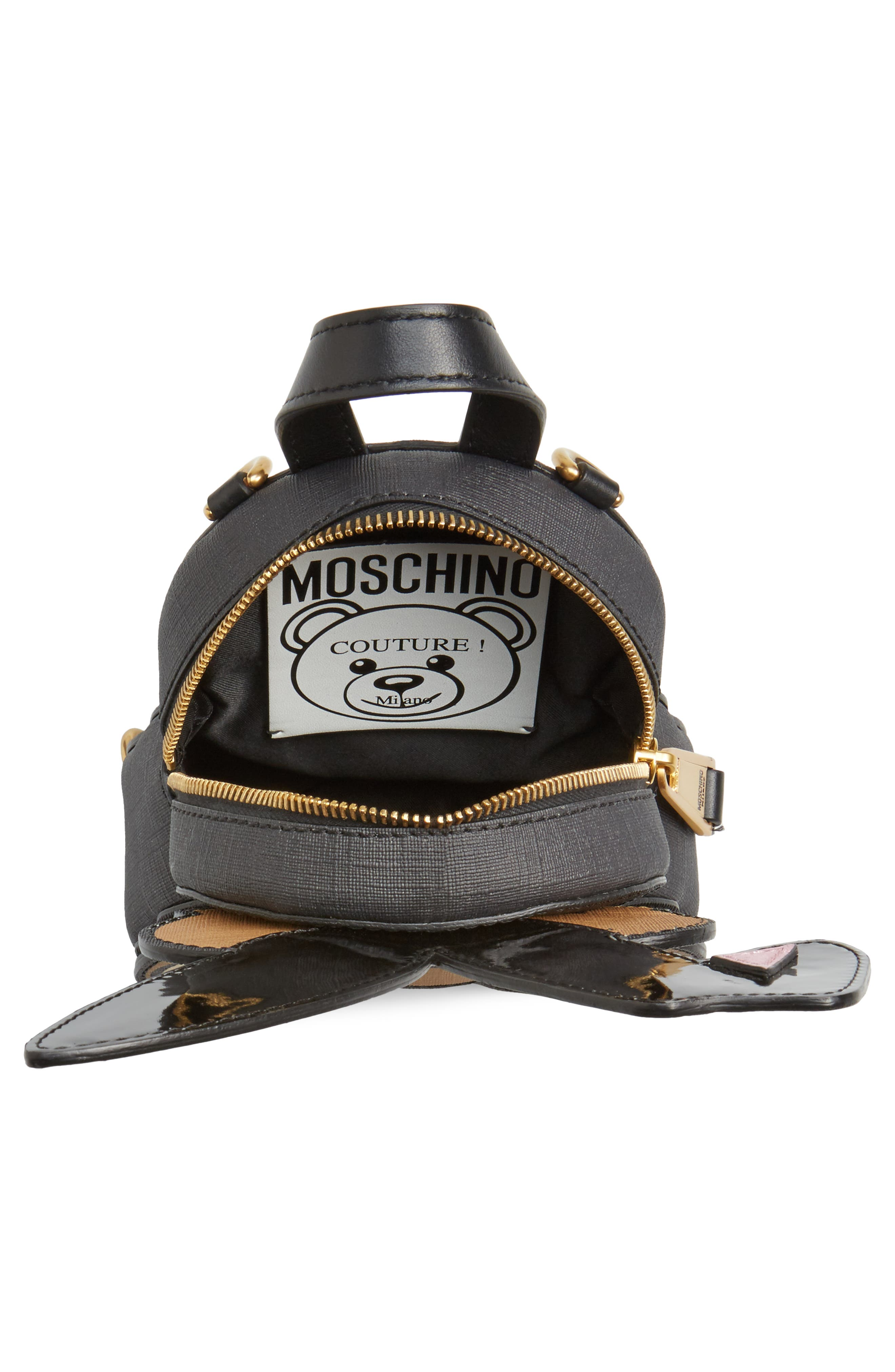 Alternate Image 4  - Moschino x Playboy Small Bunny Bear Leather Backpack