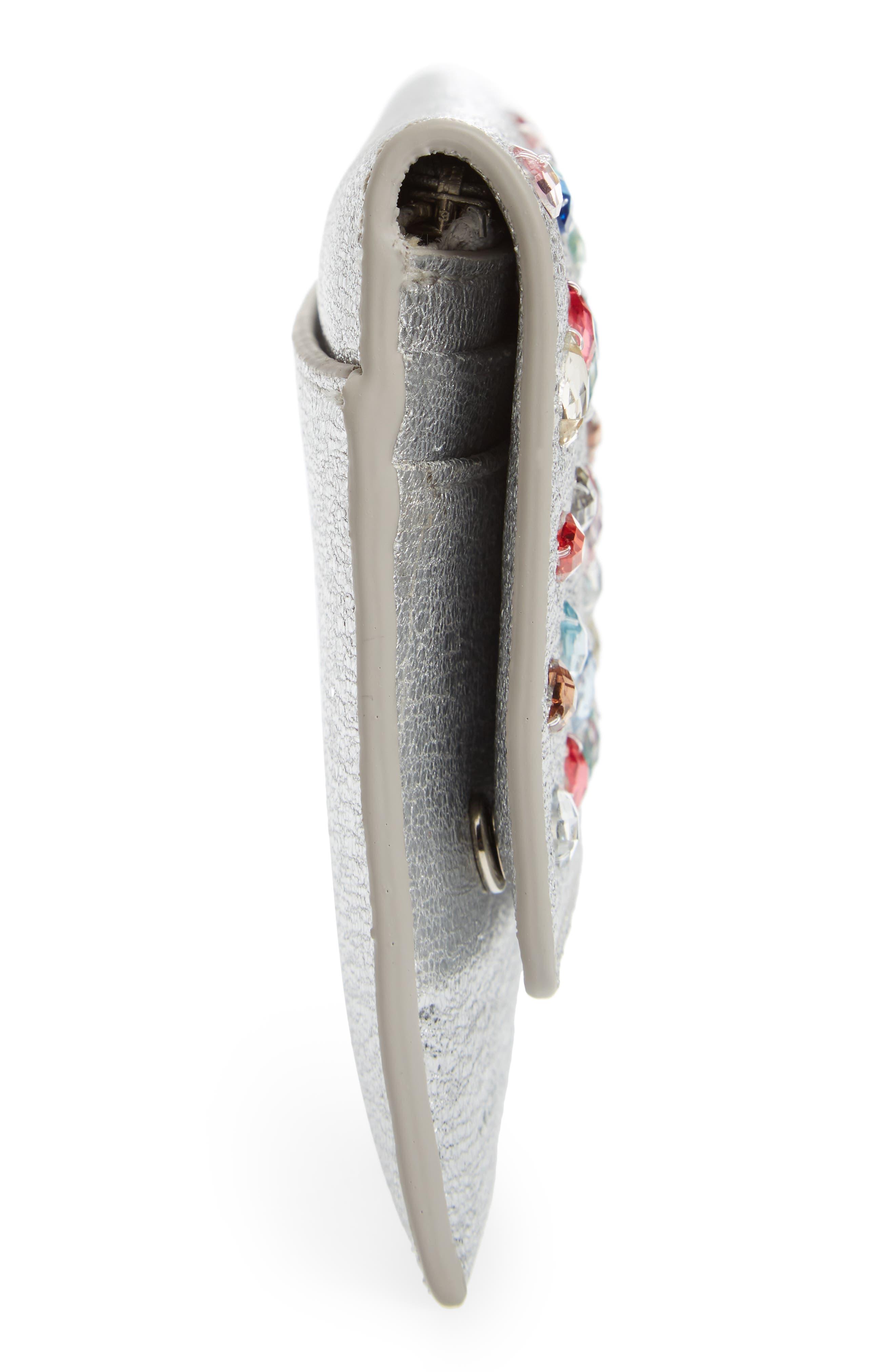 Alternate Image 5  - Loeffler Randall Everything Crystal Embellished Leather Wallet