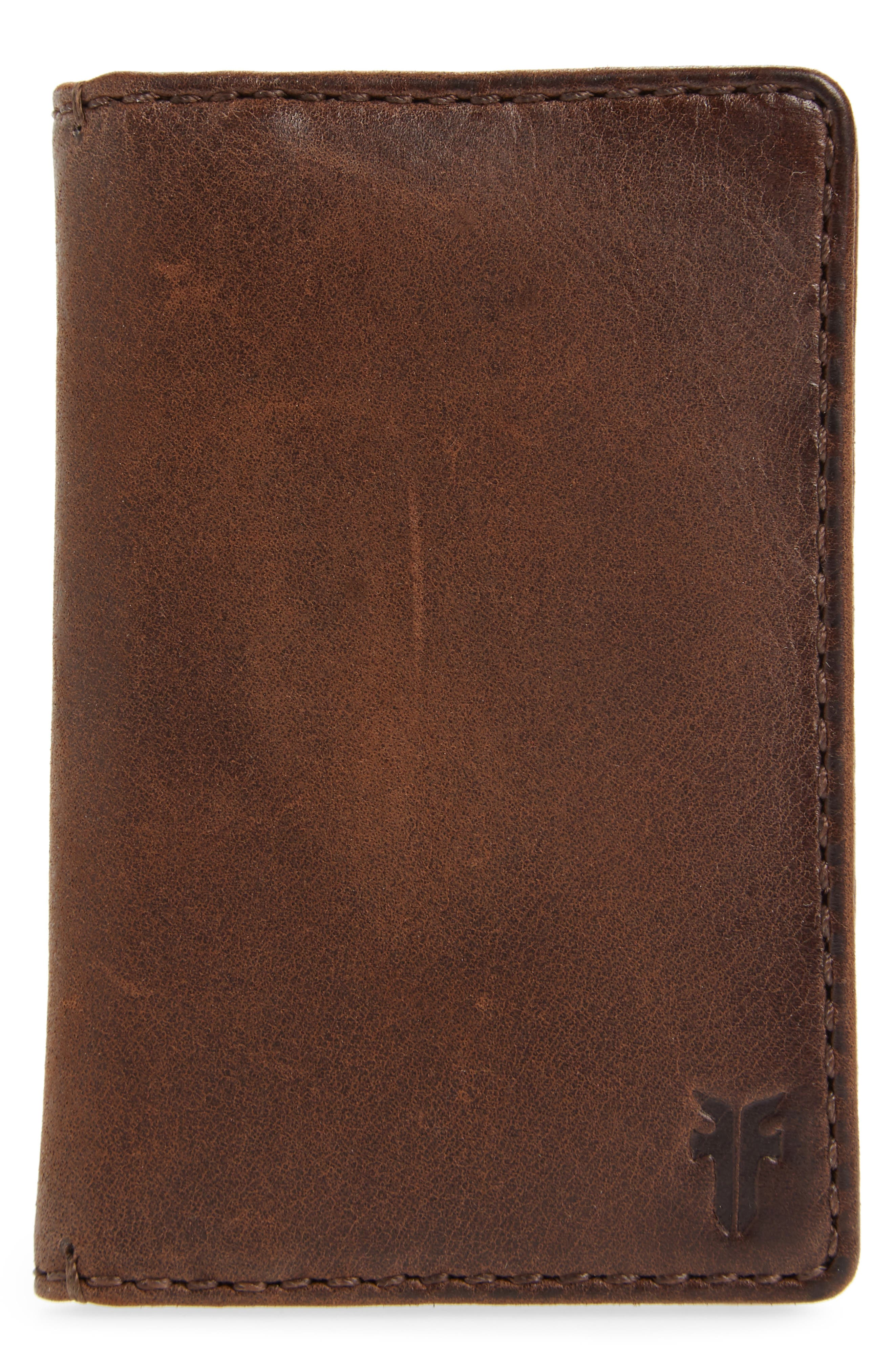 Oliver Leather Wallet,                             Main thumbnail 1, color,                             Dark Brown