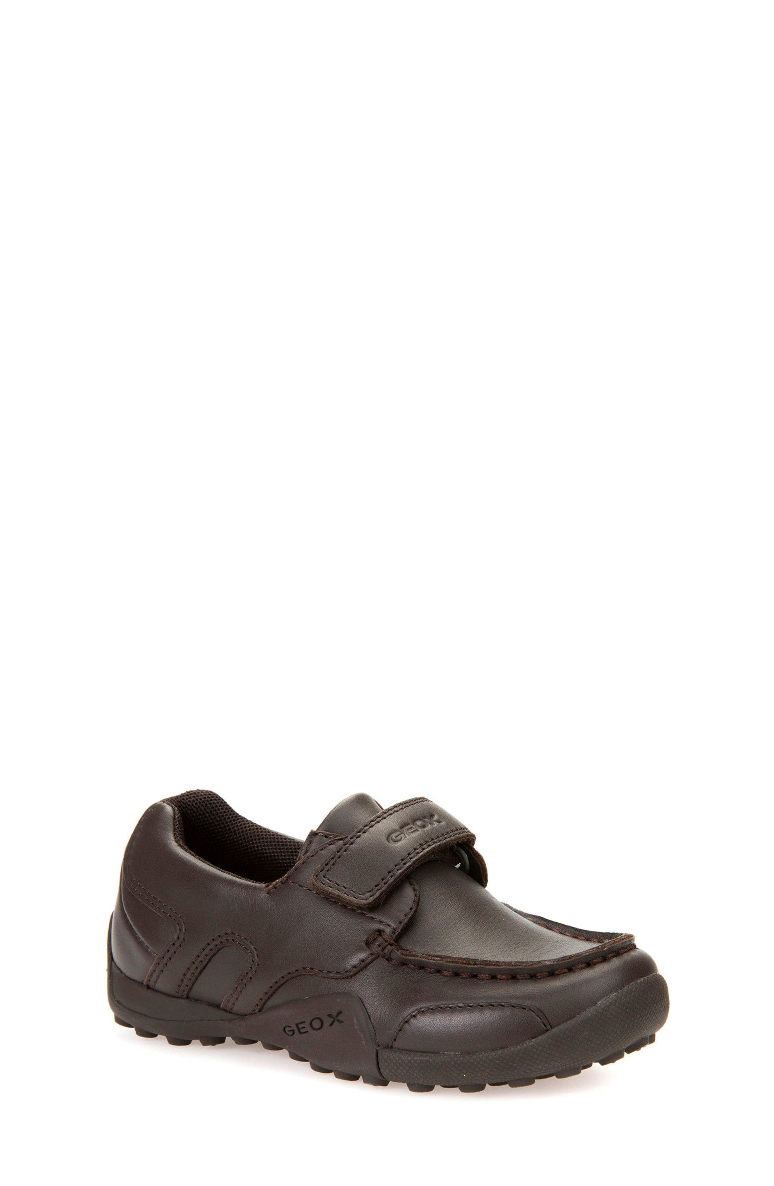 'Snake Moc 2' Leather Loafer,                         Main,                         color, Coffee