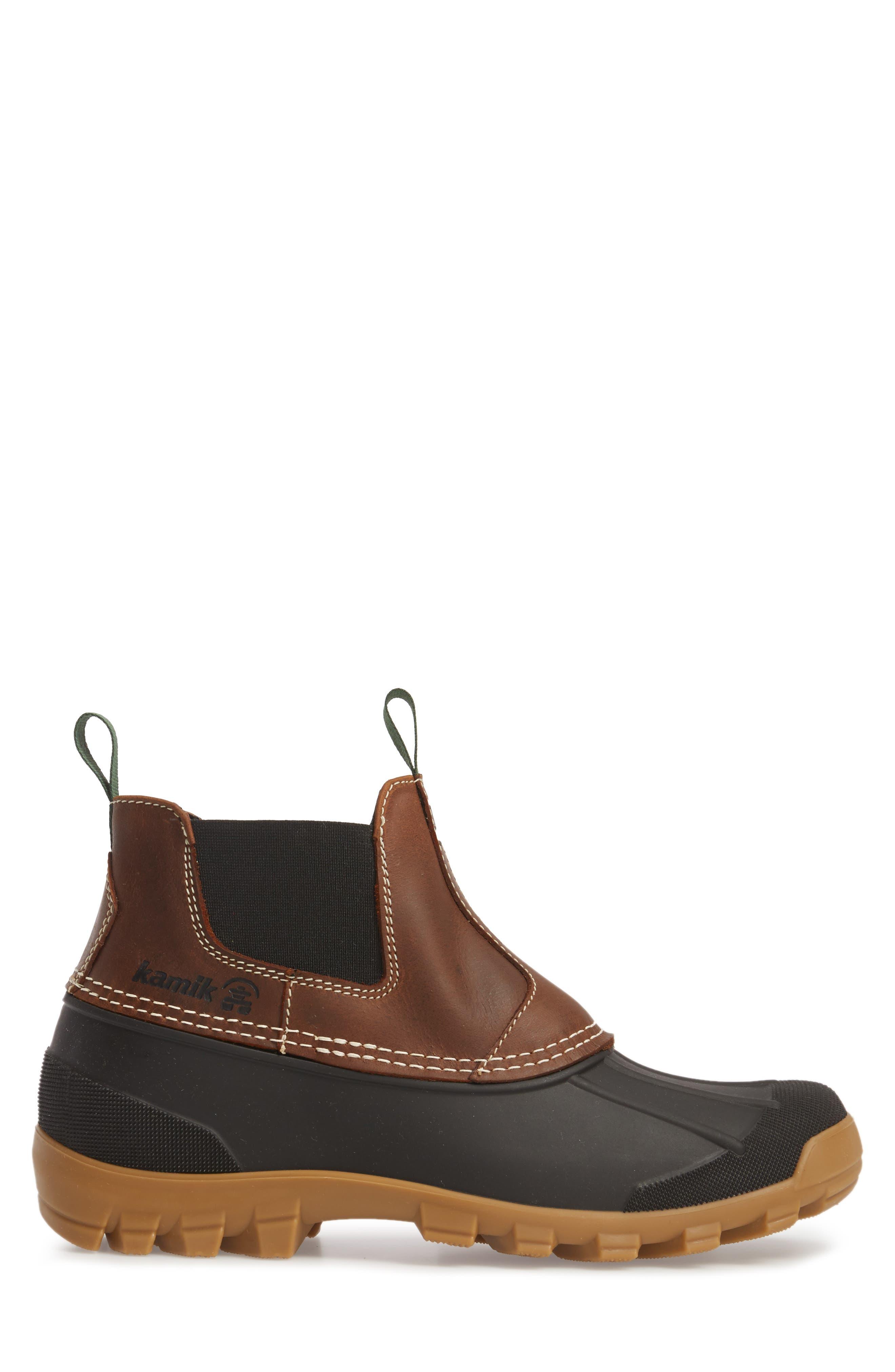 Yukon Chelsea Boot,                             Alternate thumbnail 3, color,                             Dark Brown Leather