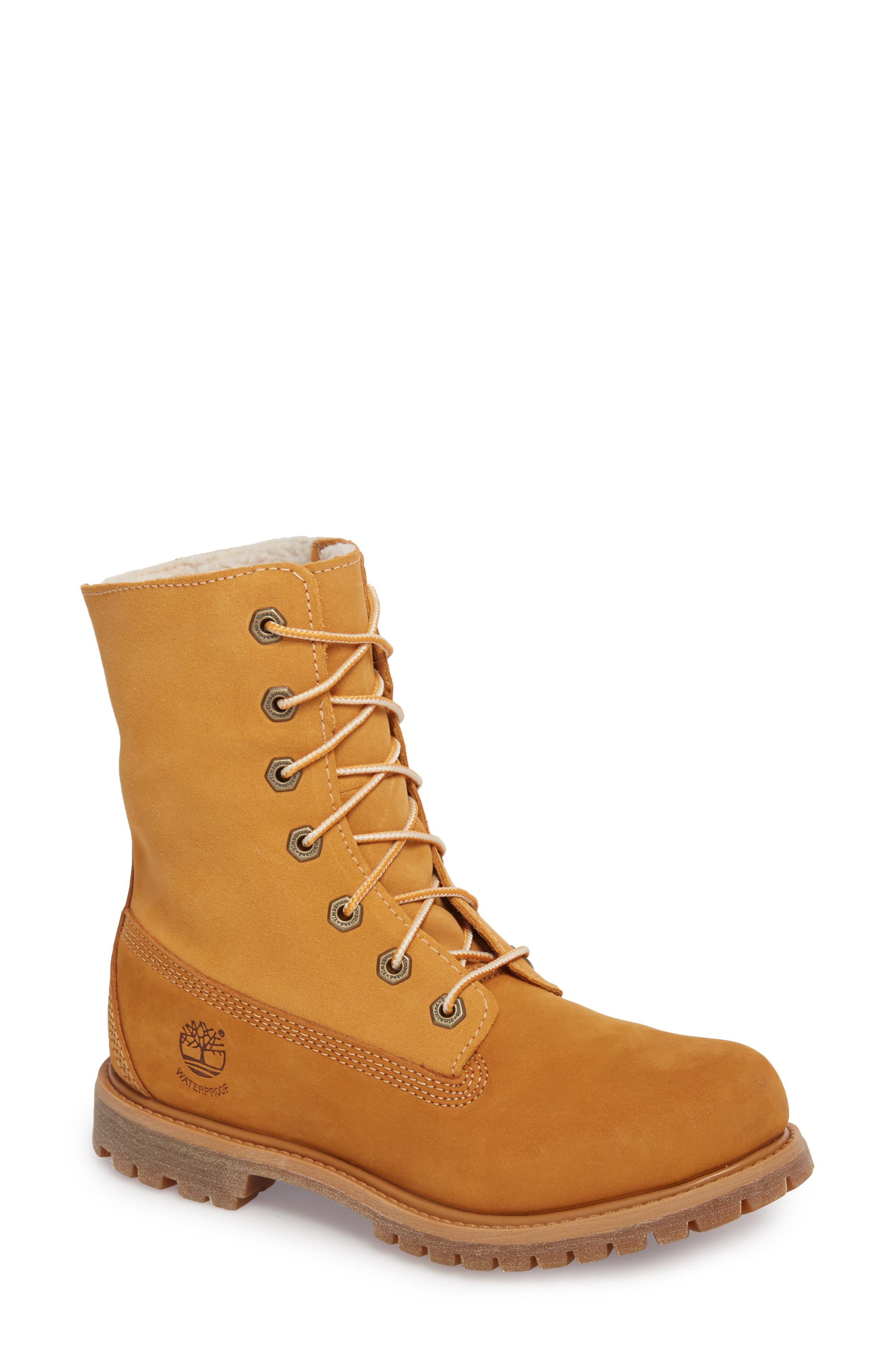 Timberland Authentic Waterproof Teddy Fleece Lined Winter Boot (Women)