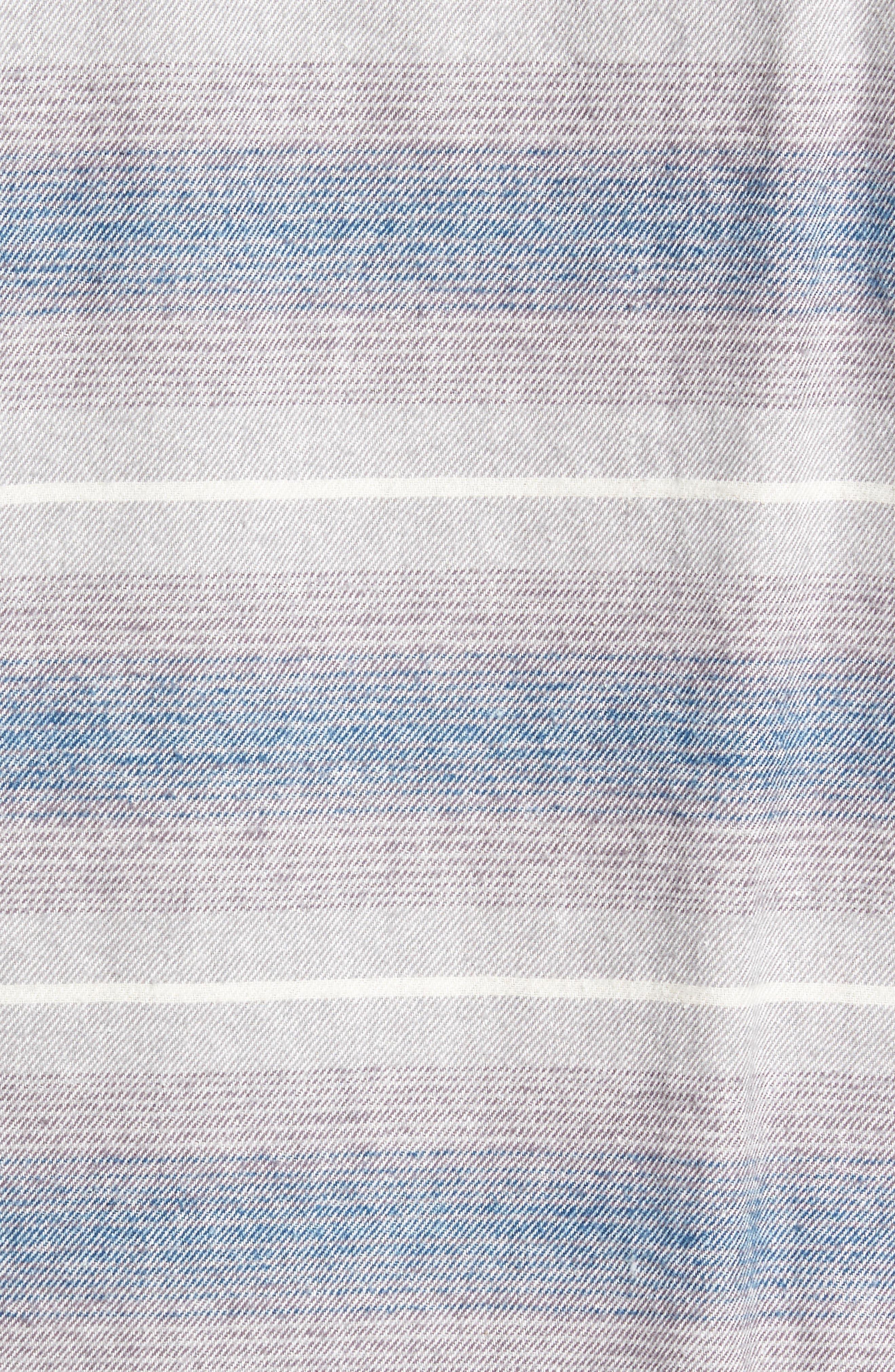 General Purpose Regular Fit Stripe Sport Shirt,                             Alternate thumbnail 5, color,                             Blue Abyss