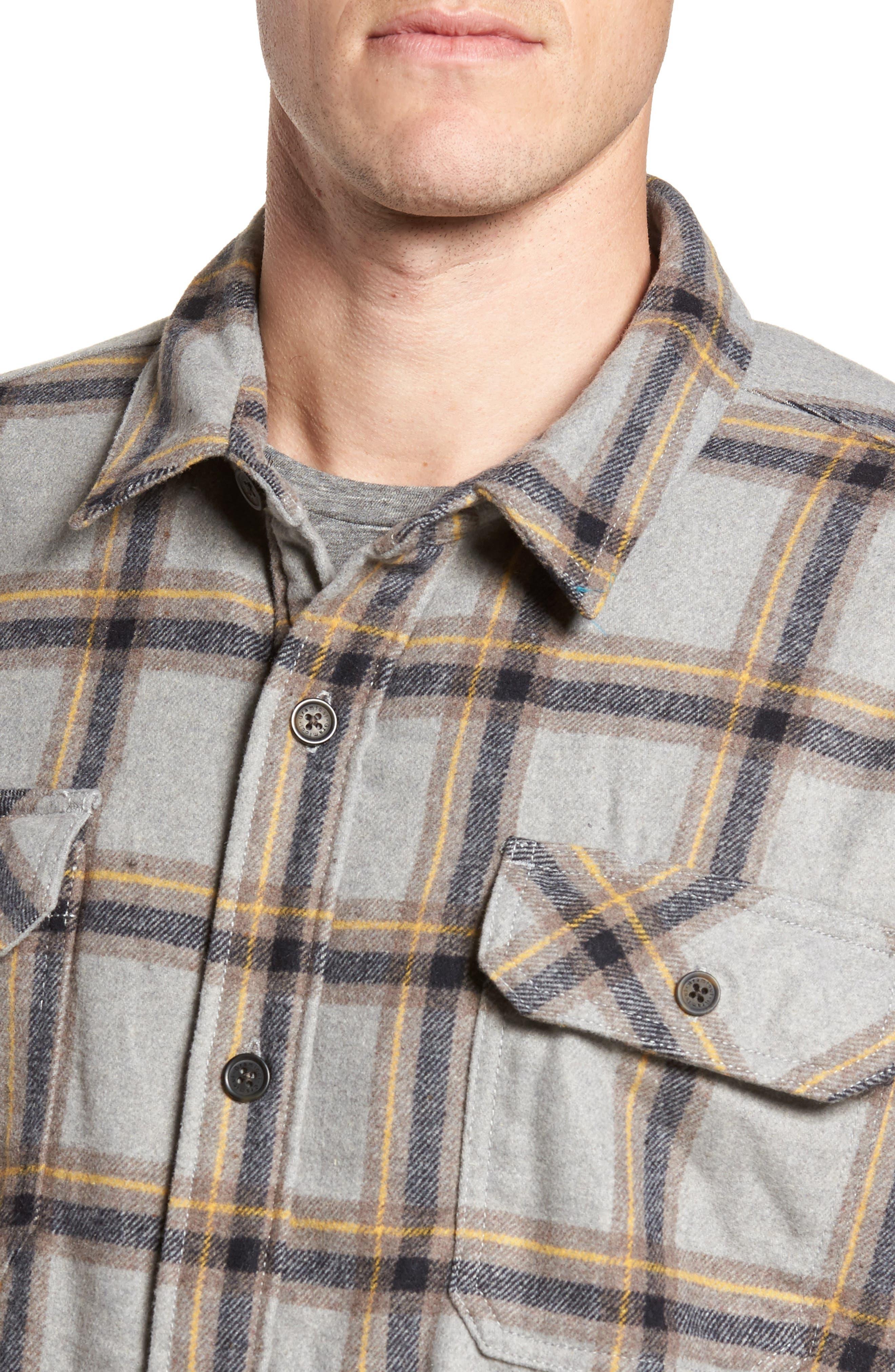 Tough Guy Plush Lined Flannel Shirt Jacket,                             Alternate thumbnail 4, color,                             Light Grey