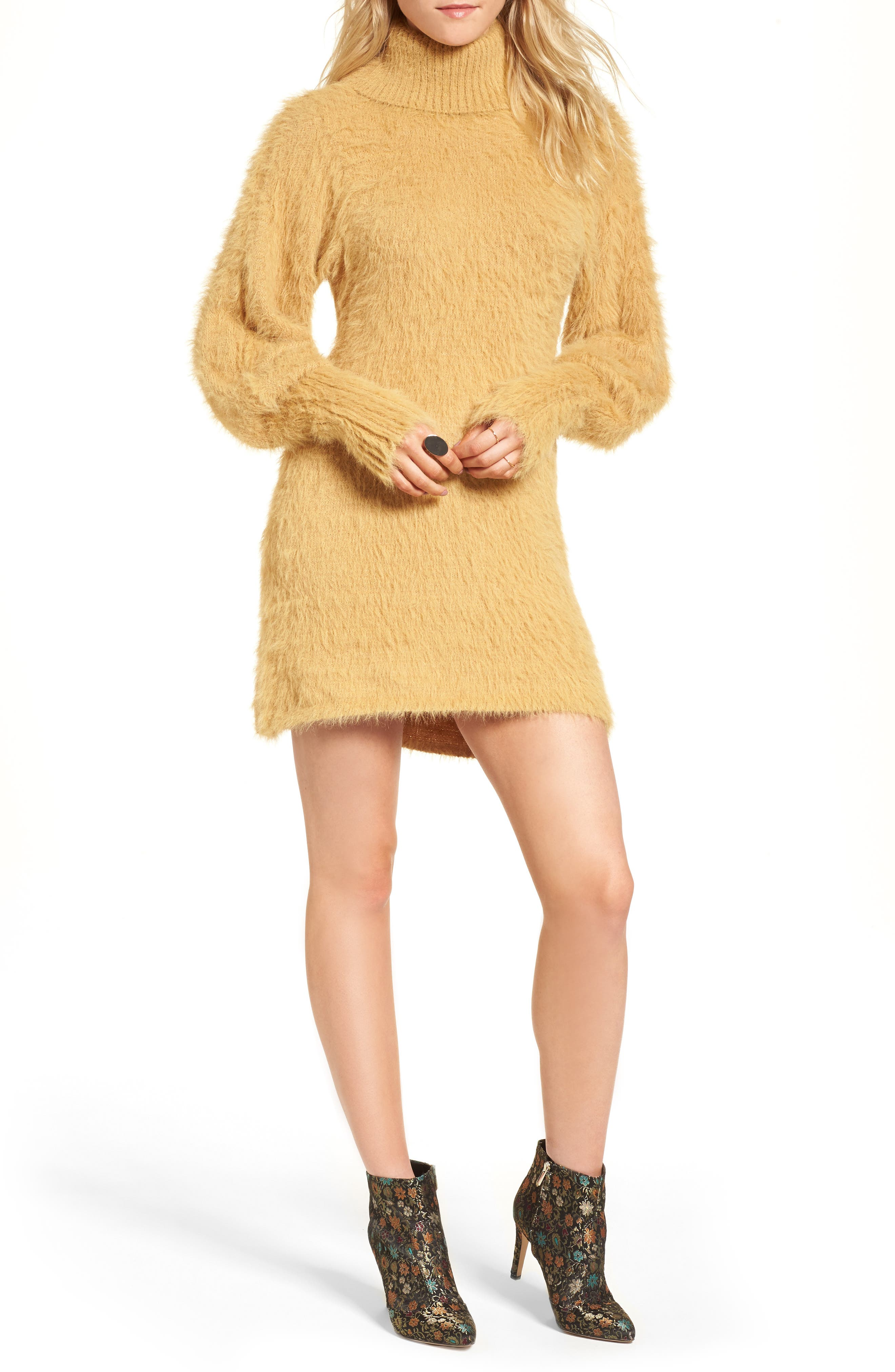 Free People Honey Turtleneck Minidress