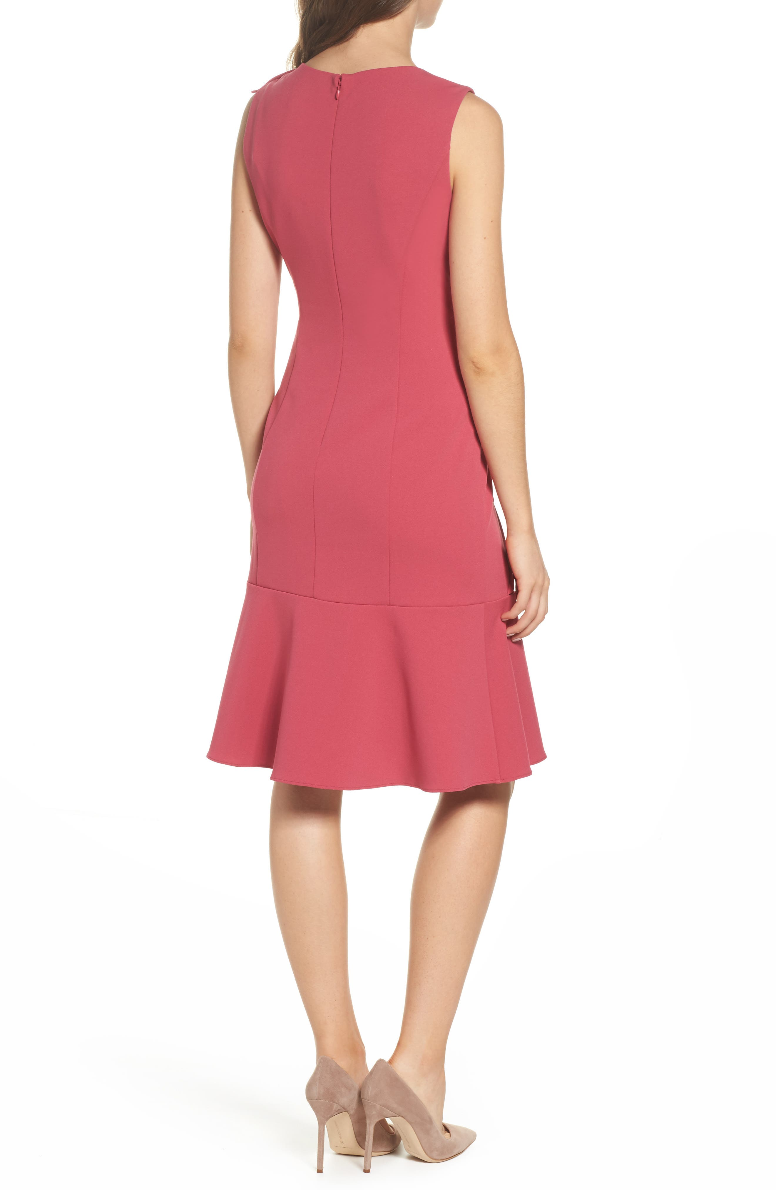 Alternate Image 2  - Adrianna Papell Ruffle Crepe Dress