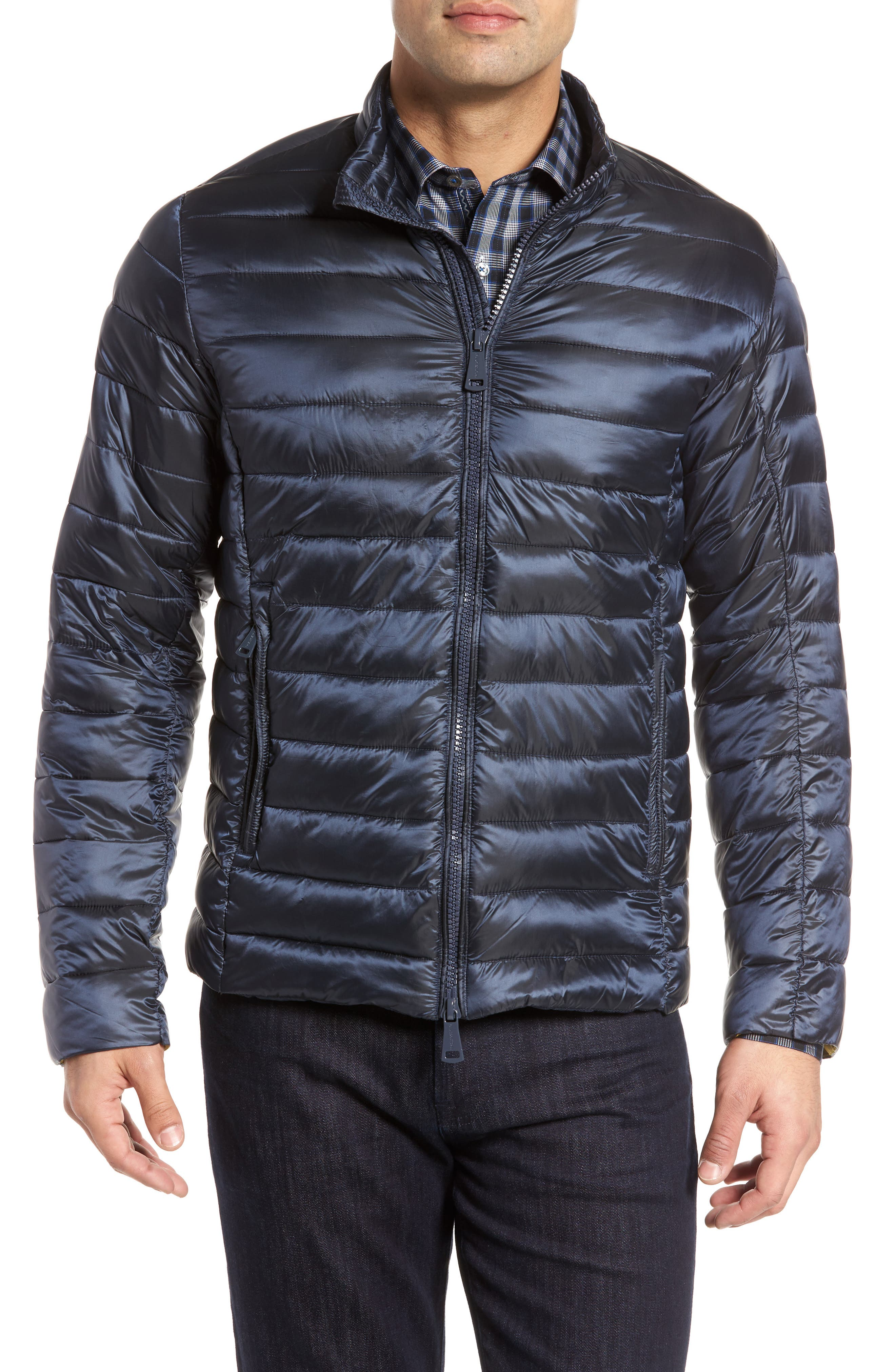 Channel Quilted Jacket,                             Main thumbnail 1, color,                             Navy