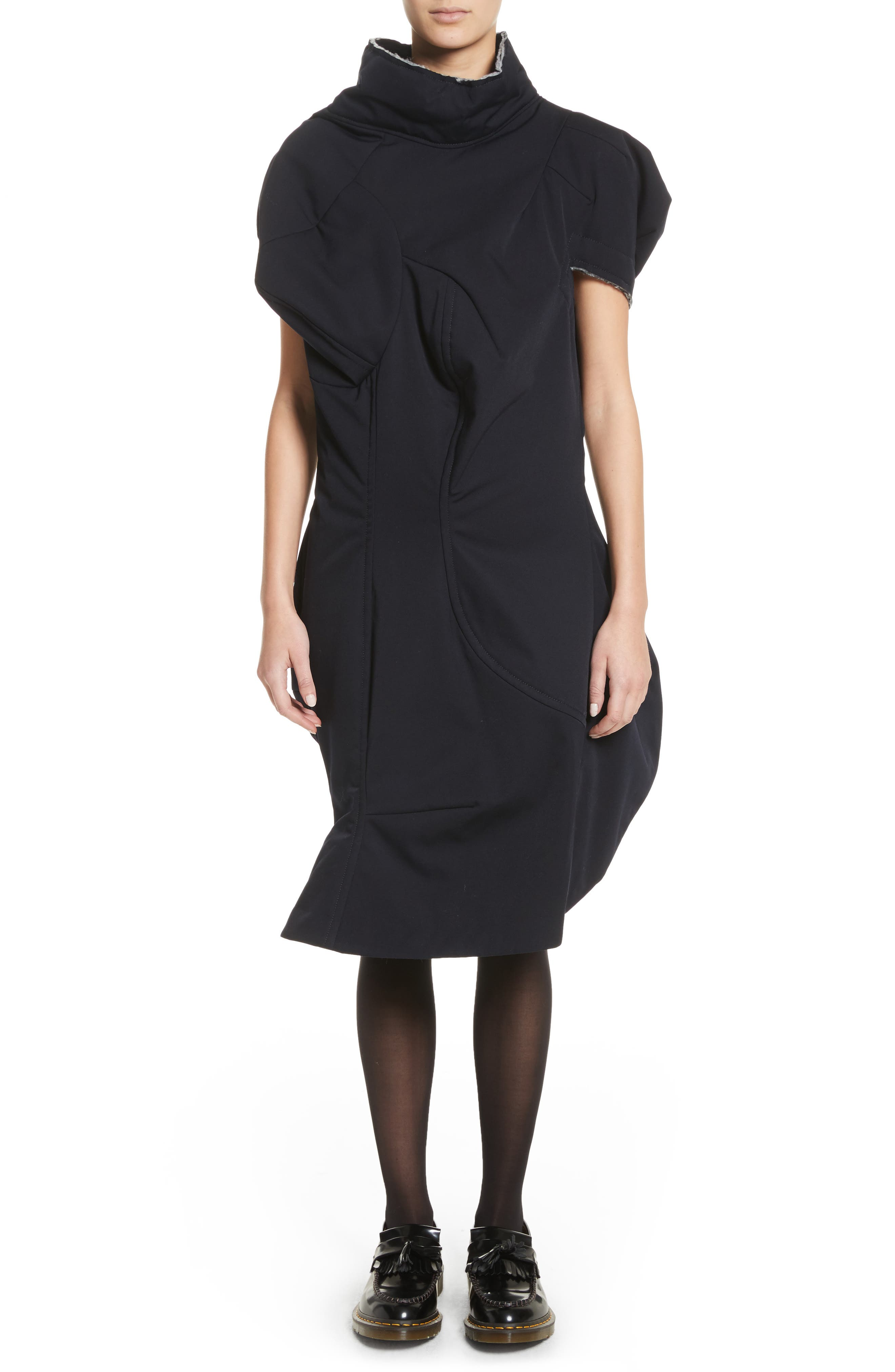 Comme des Garçons Couture Effect Gabardine Dress