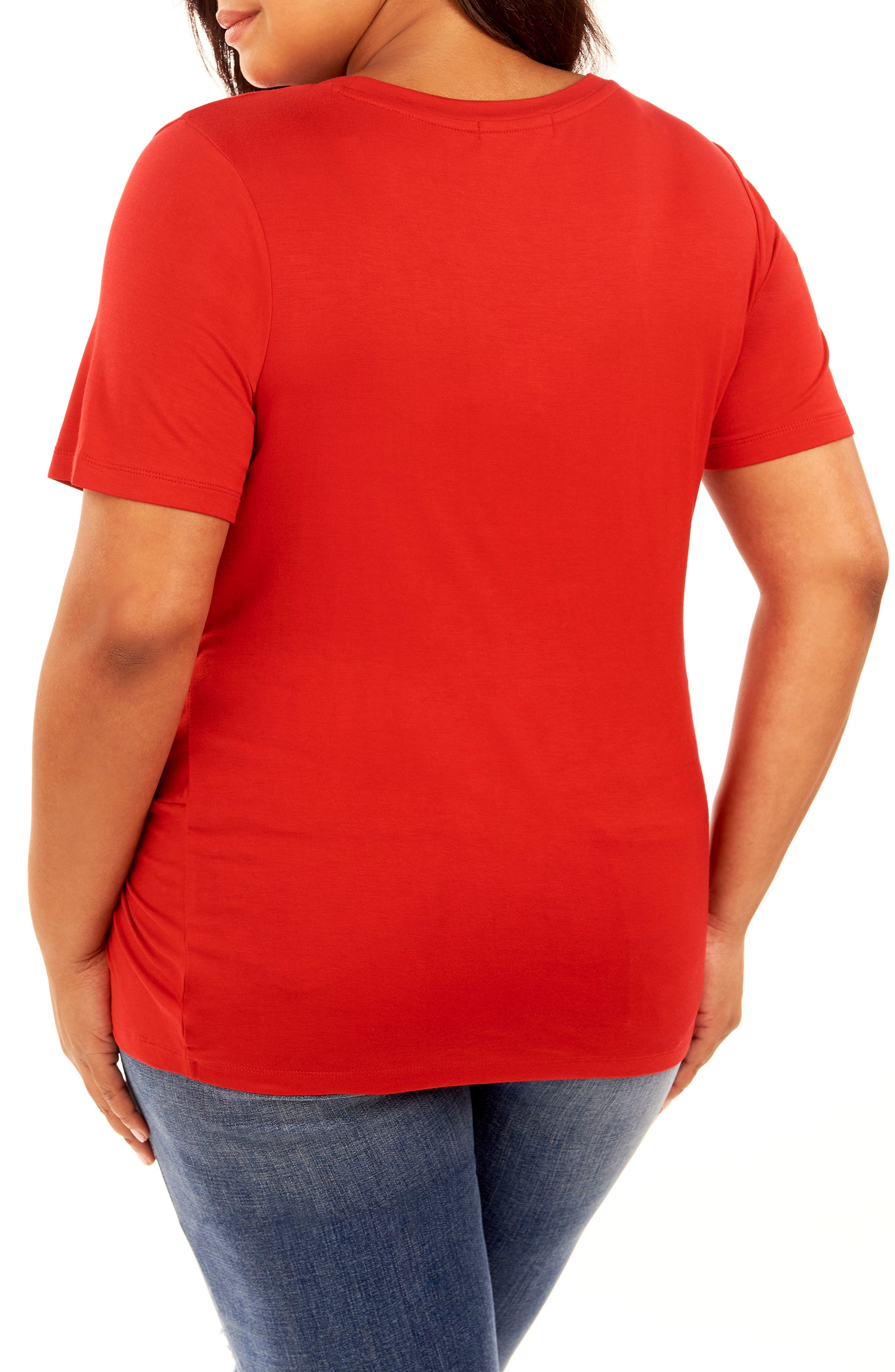 Alternate Image 2  - Rebel Wilson x Angels Ruched Top (Plus Size)