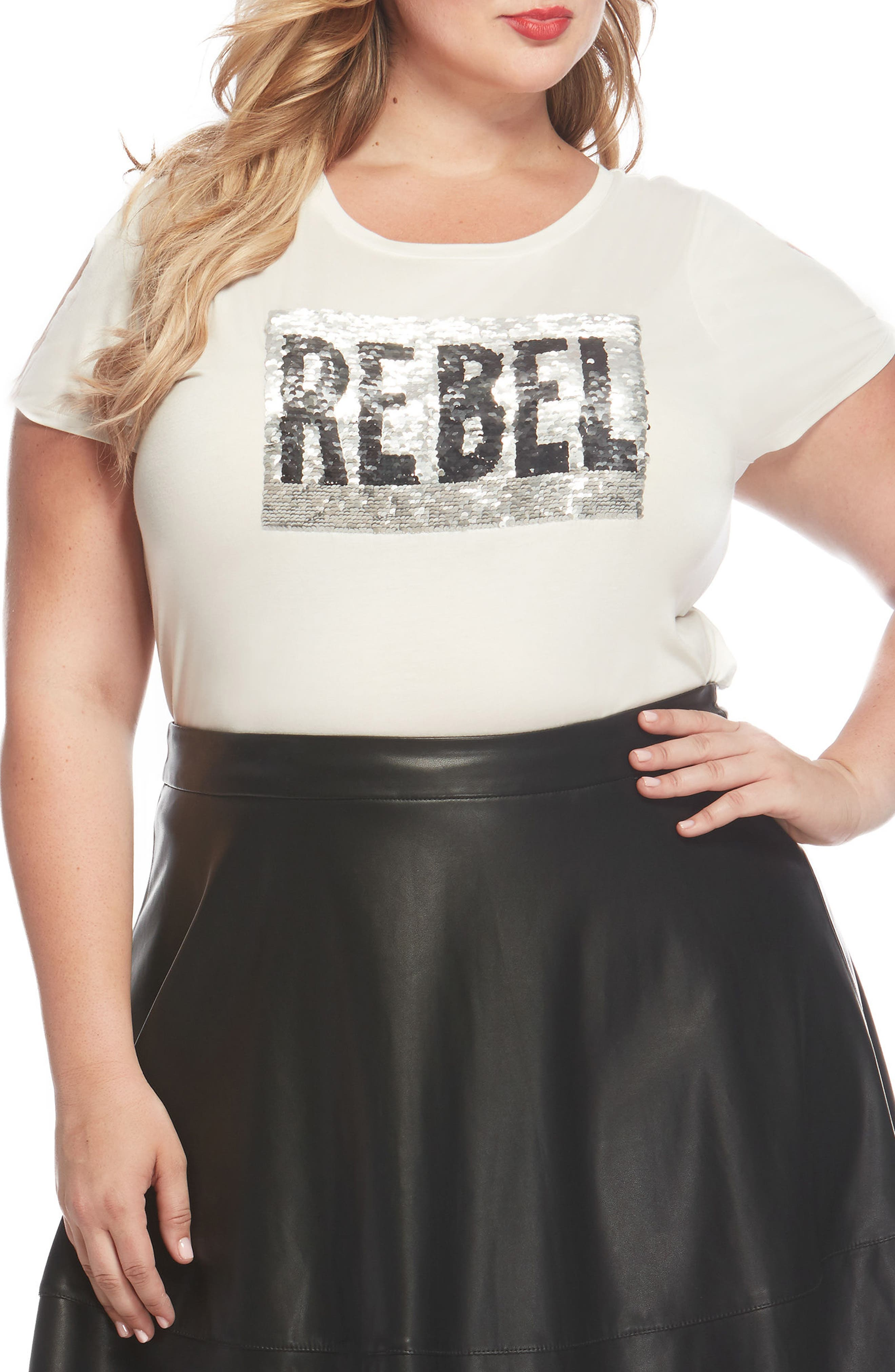 Graphic Swing Tee,                         Main,                         color, Rebel White