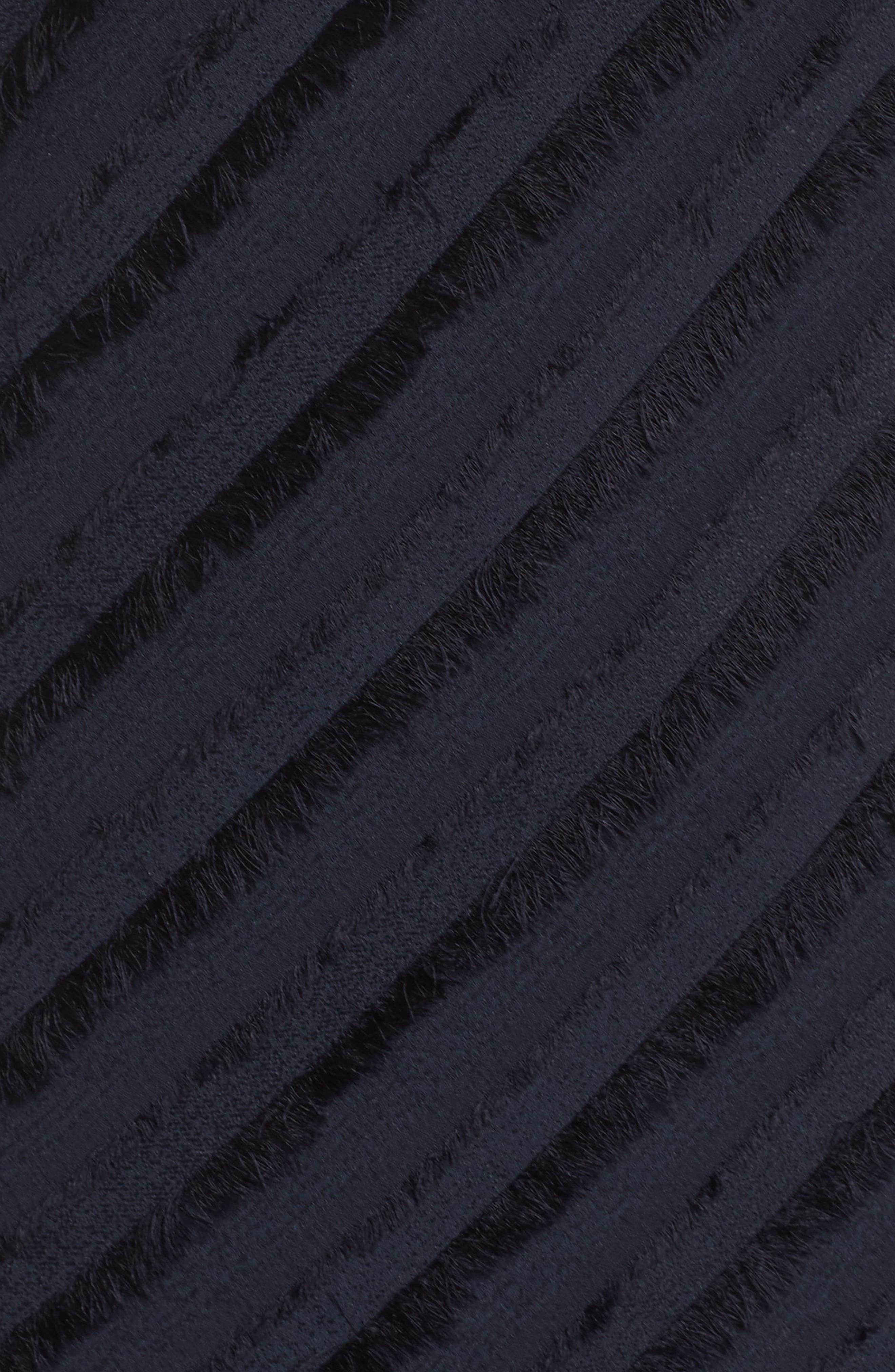 Frayed Stripe Dress,                             Alternate thumbnail 5, color,                             Multi