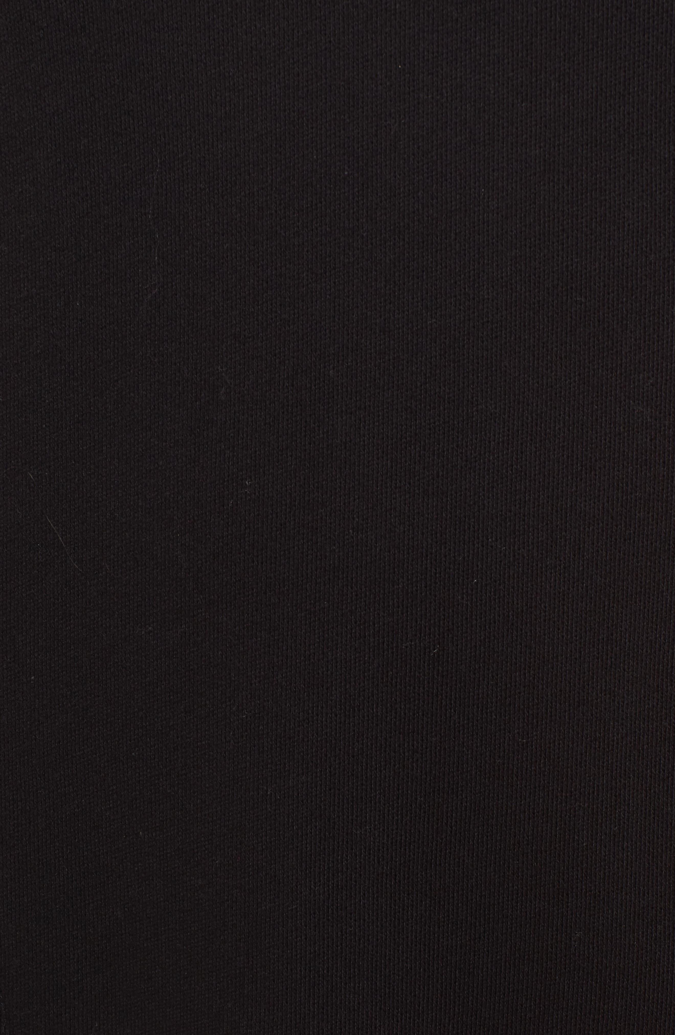 Lace-Up T-Shirt Dress,                             Alternate thumbnail 5, color,                             Black