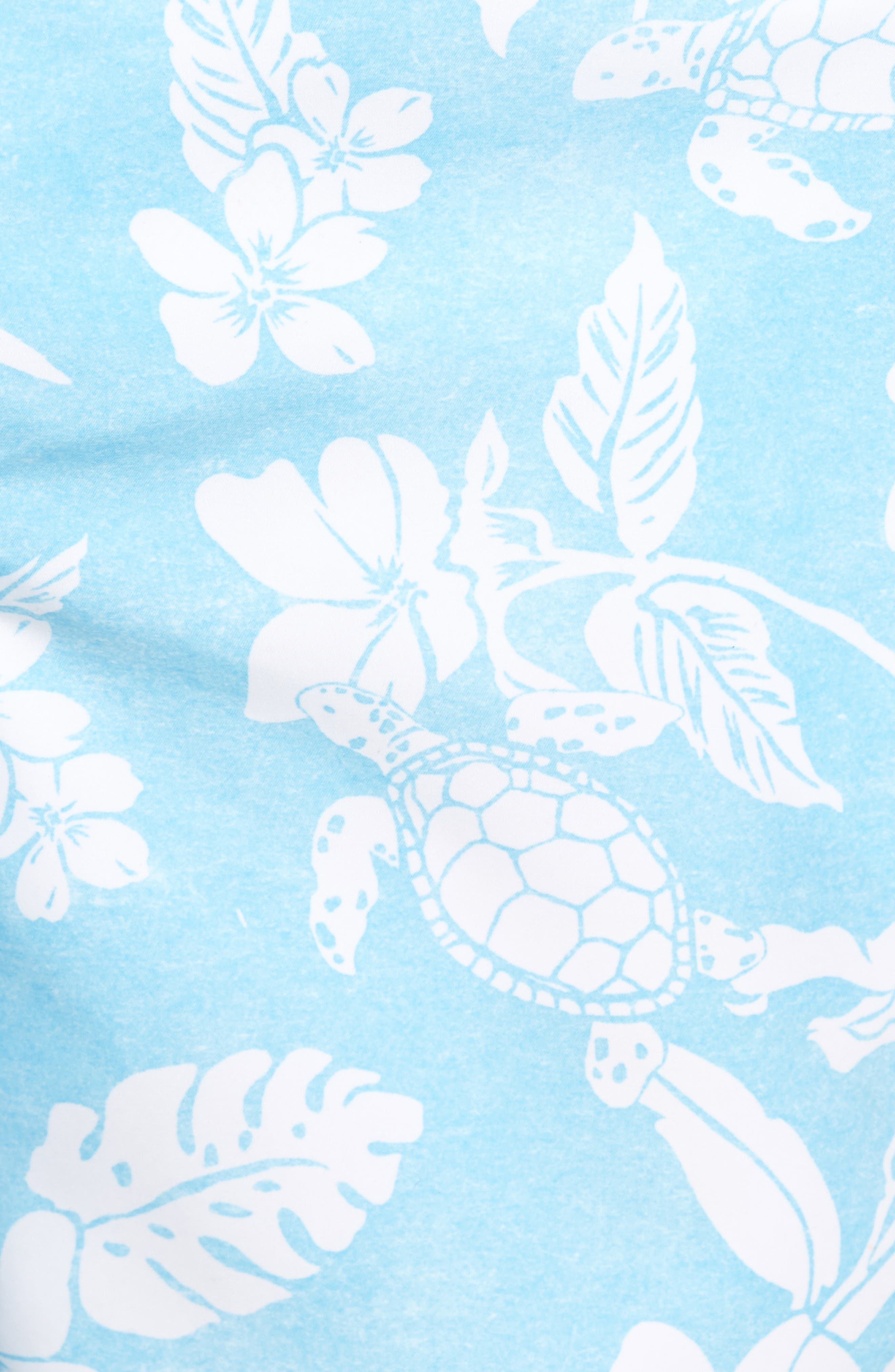 Naples Turtle Beach Swim Trunks,                             Alternate thumbnail 5, color,                             Breeze Blue