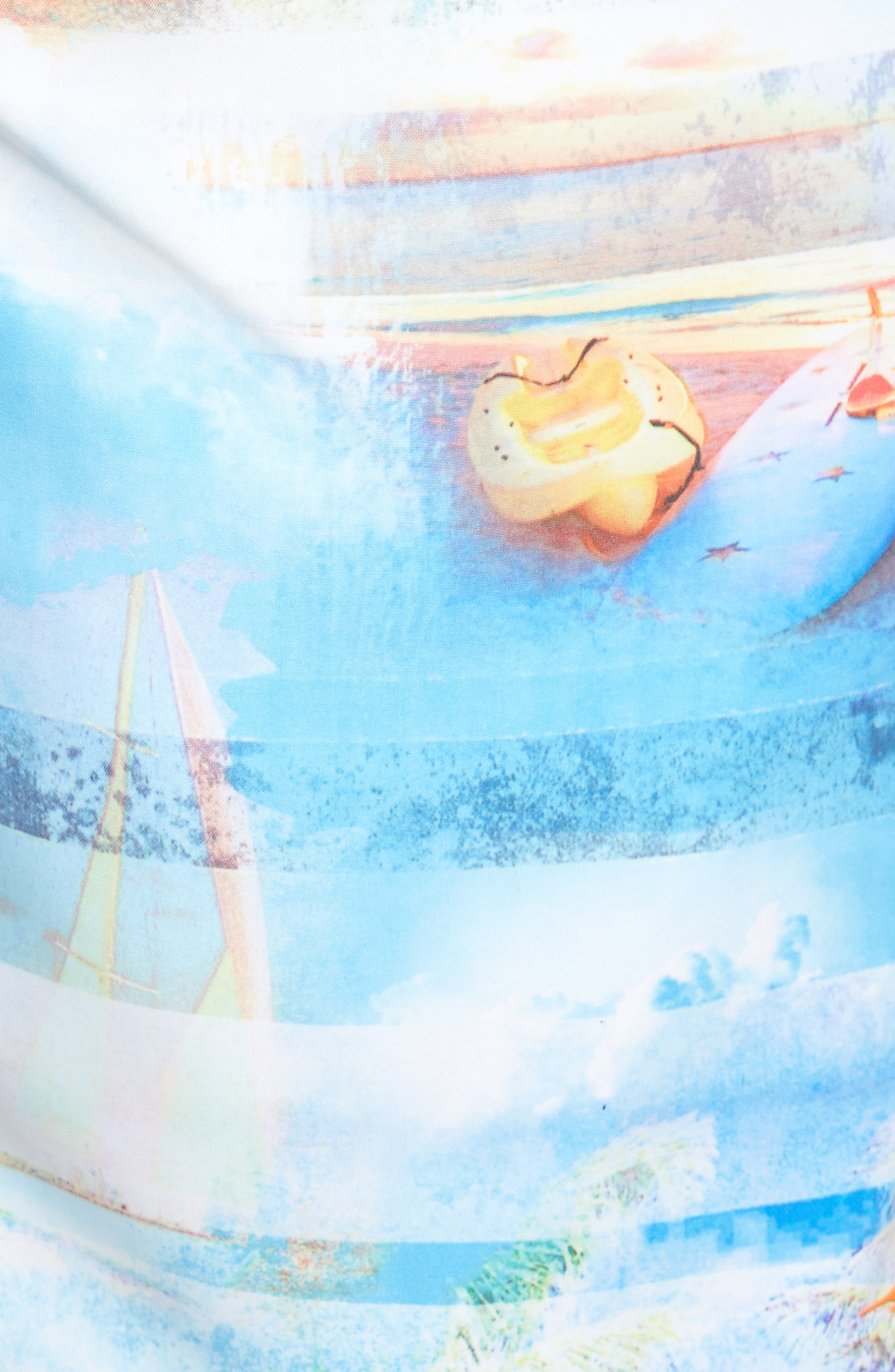 Baja Electric Beach Swim Trunks,                             Alternate thumbnail 5, color,                             Galaxy Blue