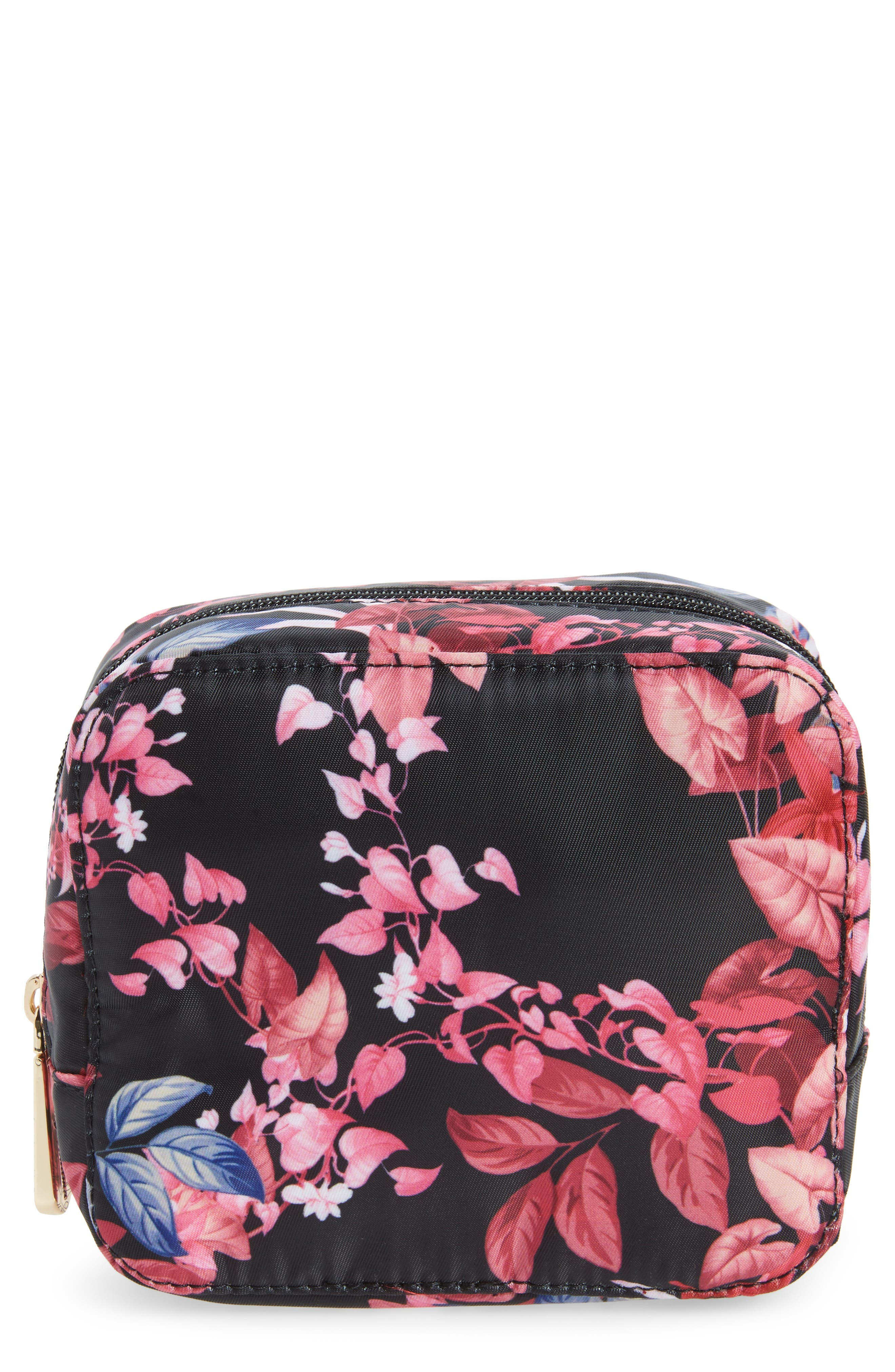 Up in the Air Cosmetics Case & Eye Mask,                             Main thumbnail 1, color,                             Fall Garden Part