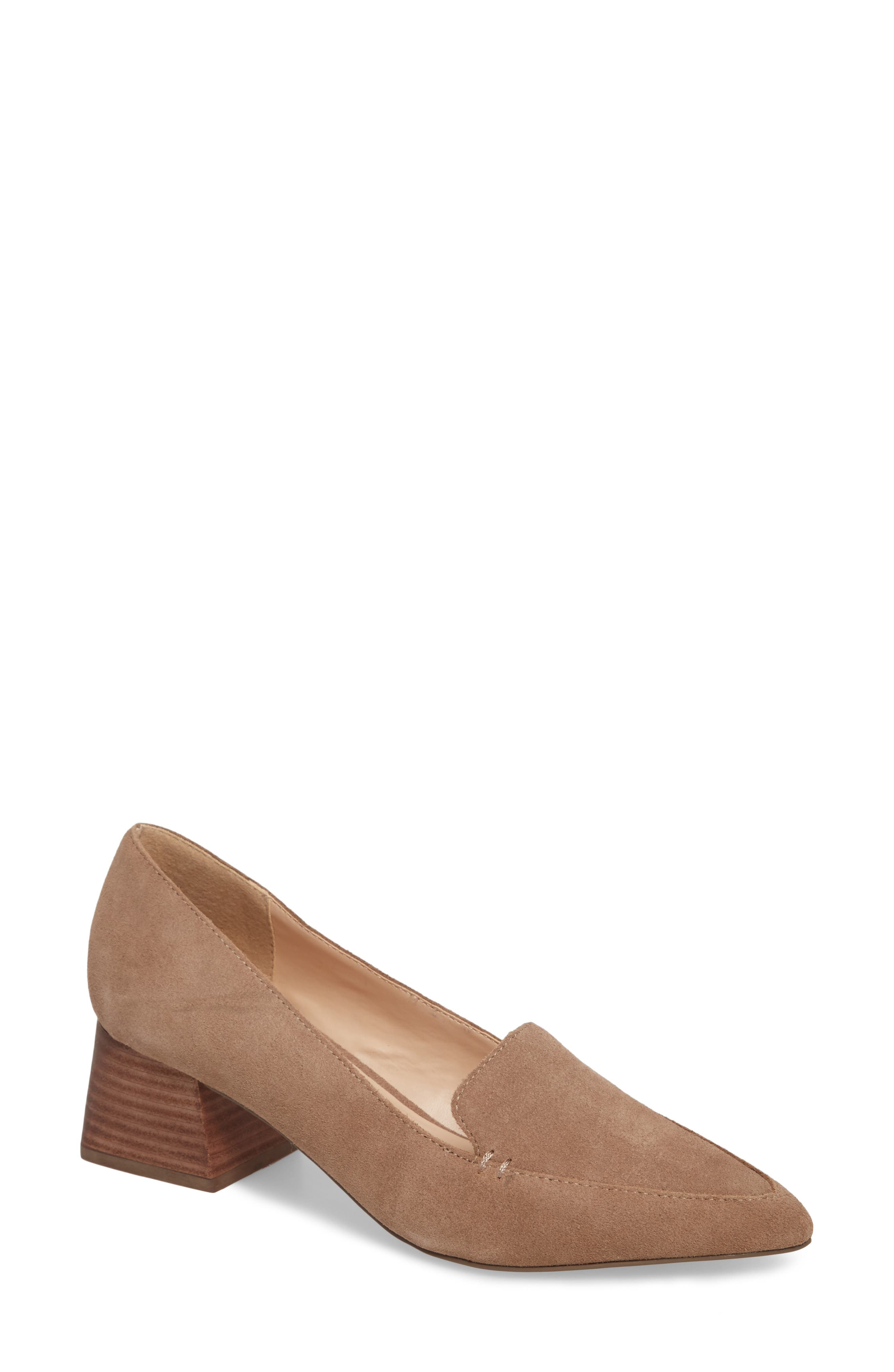 Sole Society Mavis Flare Heel Loafer (Women)