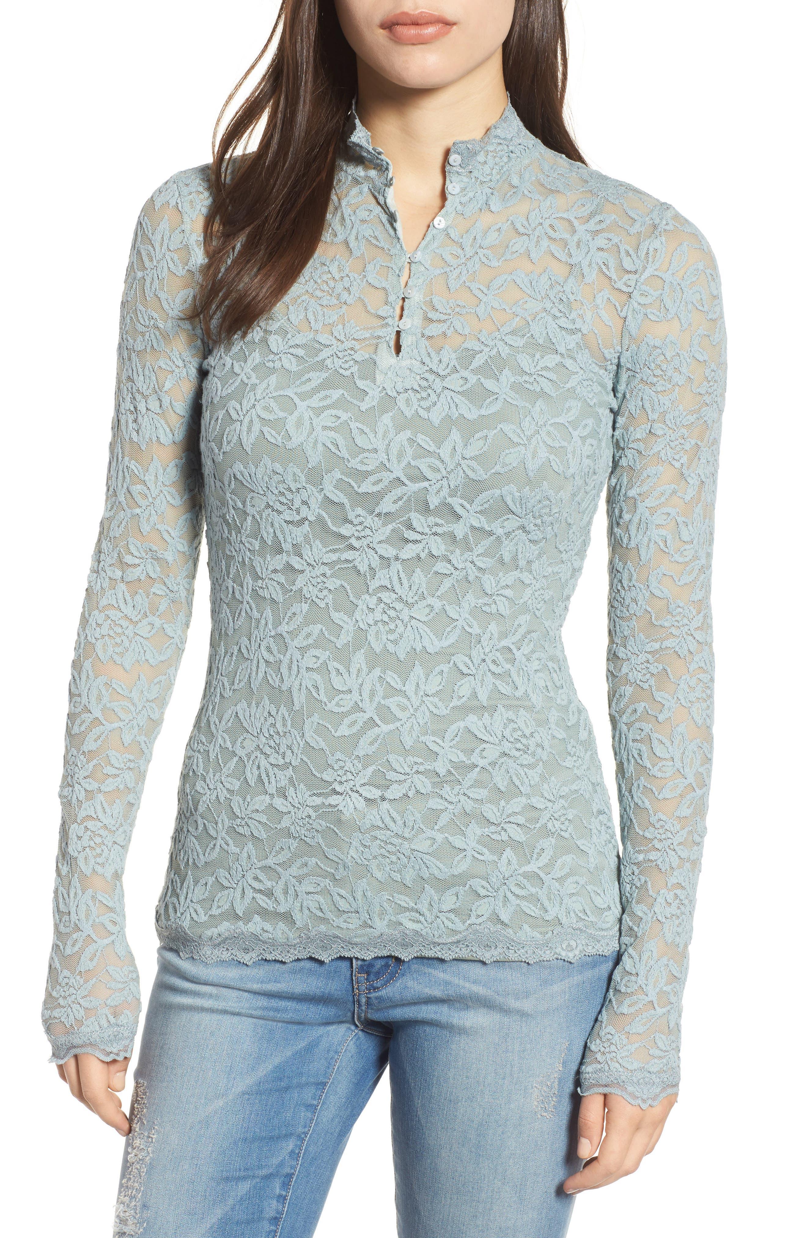 Delicia Long Sleeve Top,                         Main,                         color, Puritan Grey