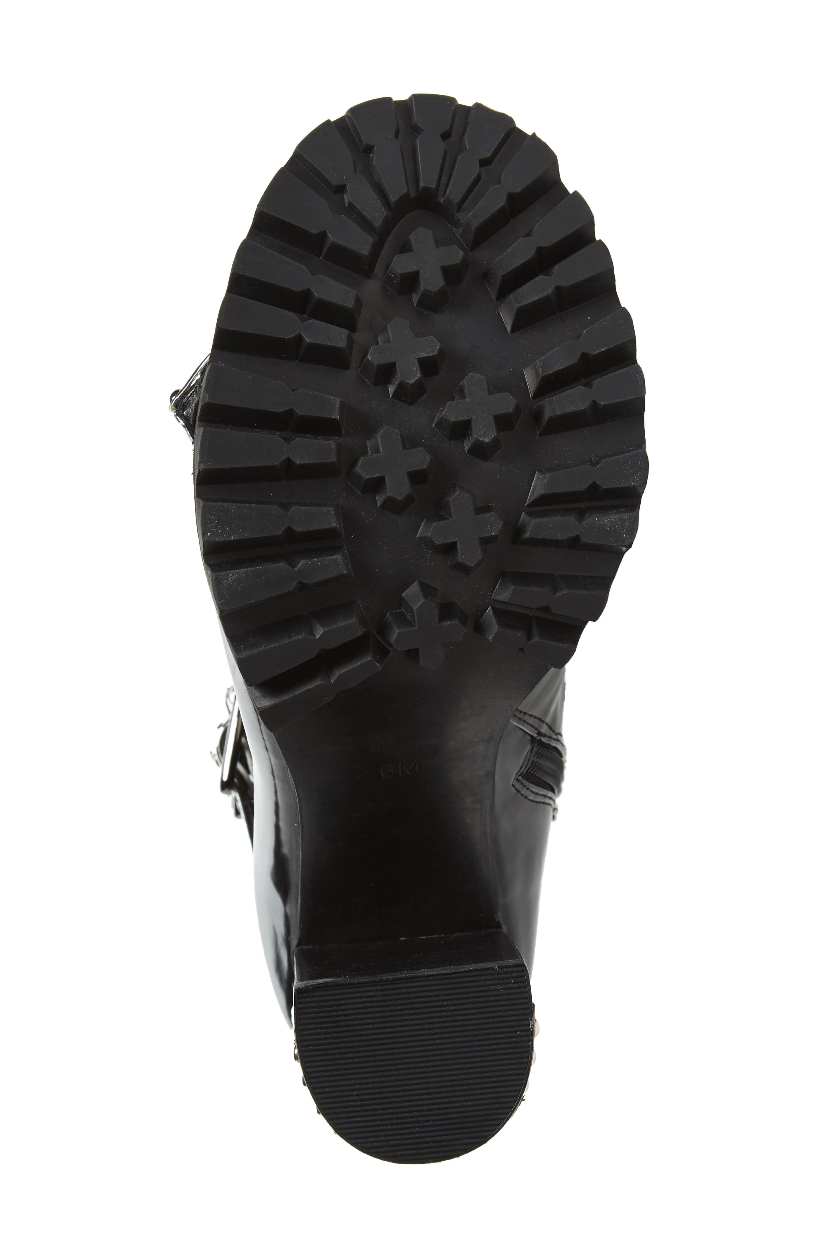 Scorpius Armored Lug Boot,                             Alternate thumbnail 6, color,                             Black Box Silver White
