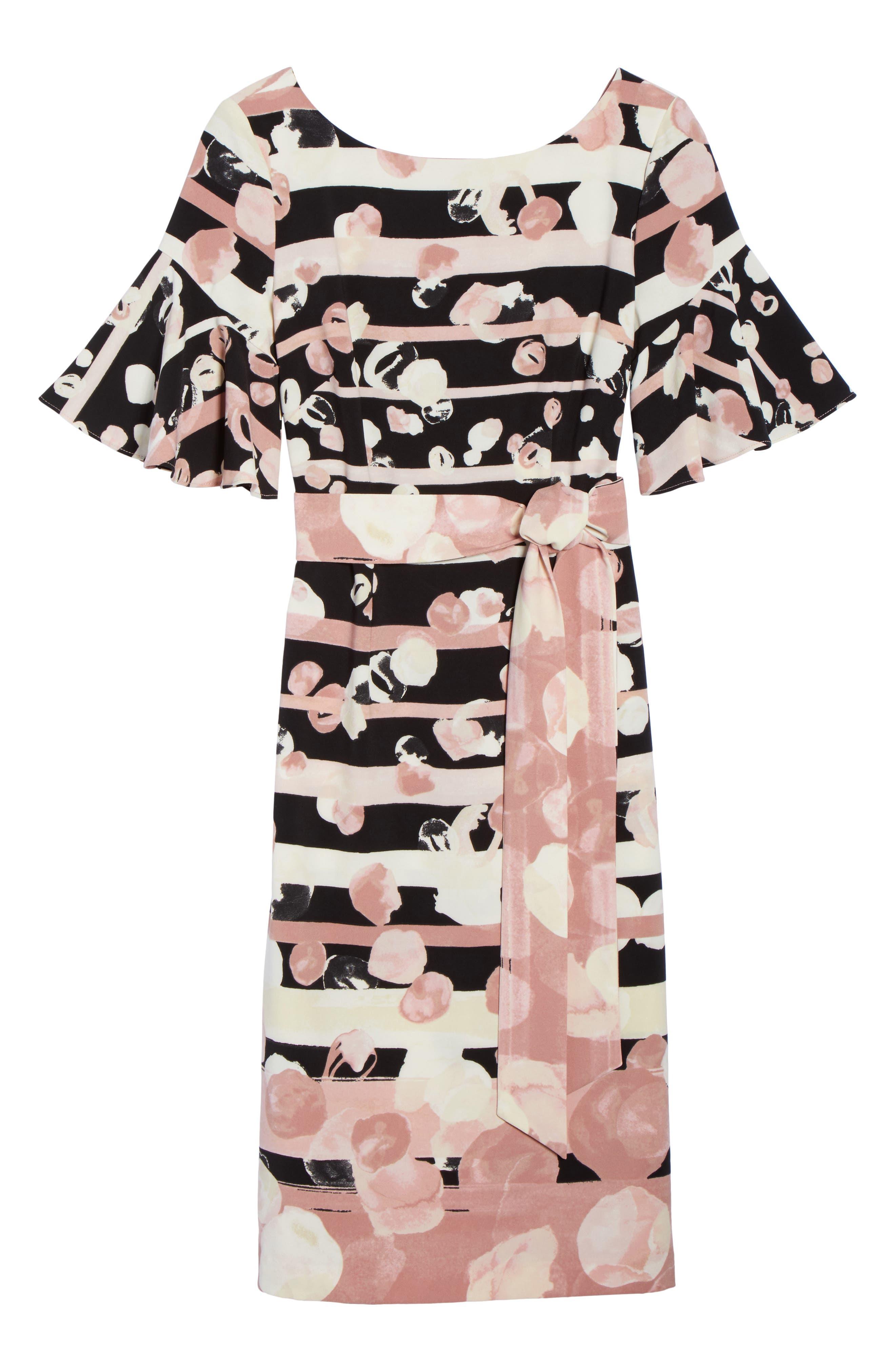 Stripe Sheath Dress,                             Alternate thumbnail 6, color,                             Blush/ Ivory