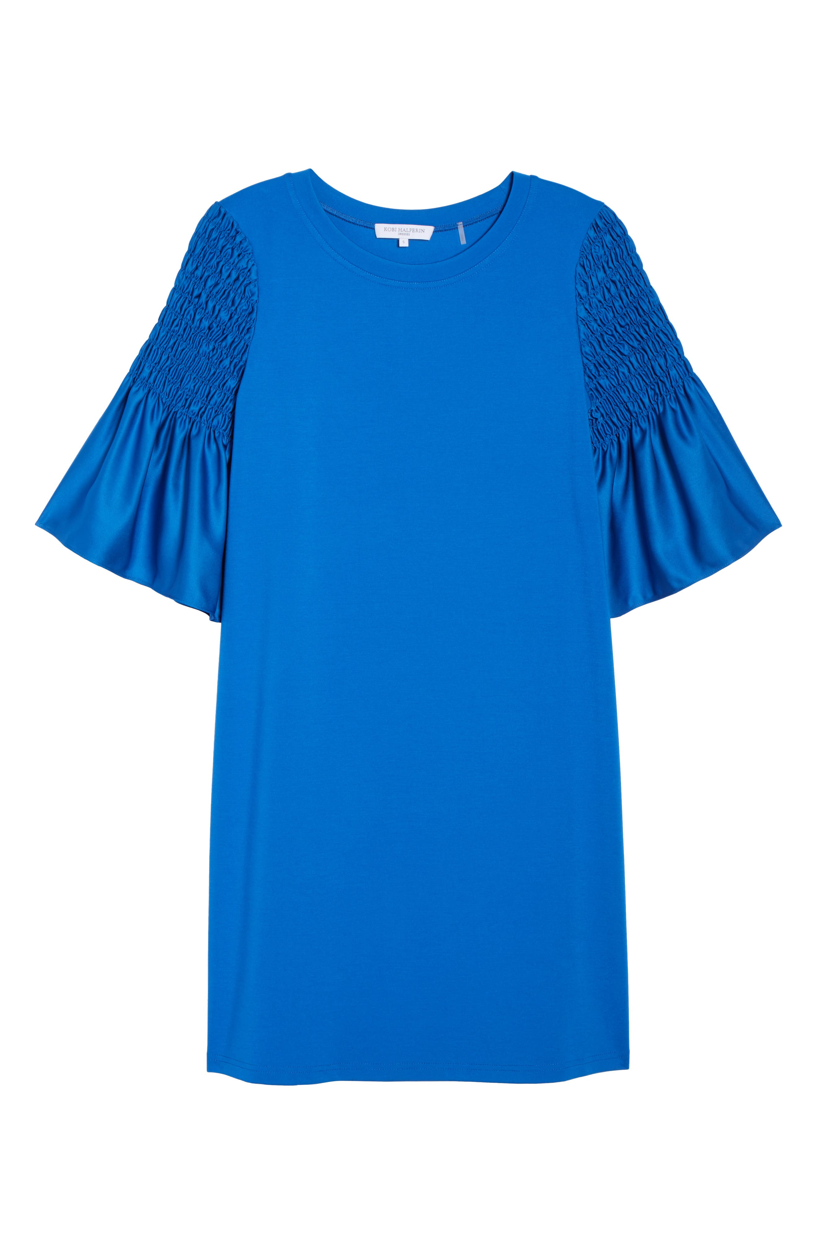 Suzette Shift Dress,                             Alternate thumbnail 6, color,                             Cobalt