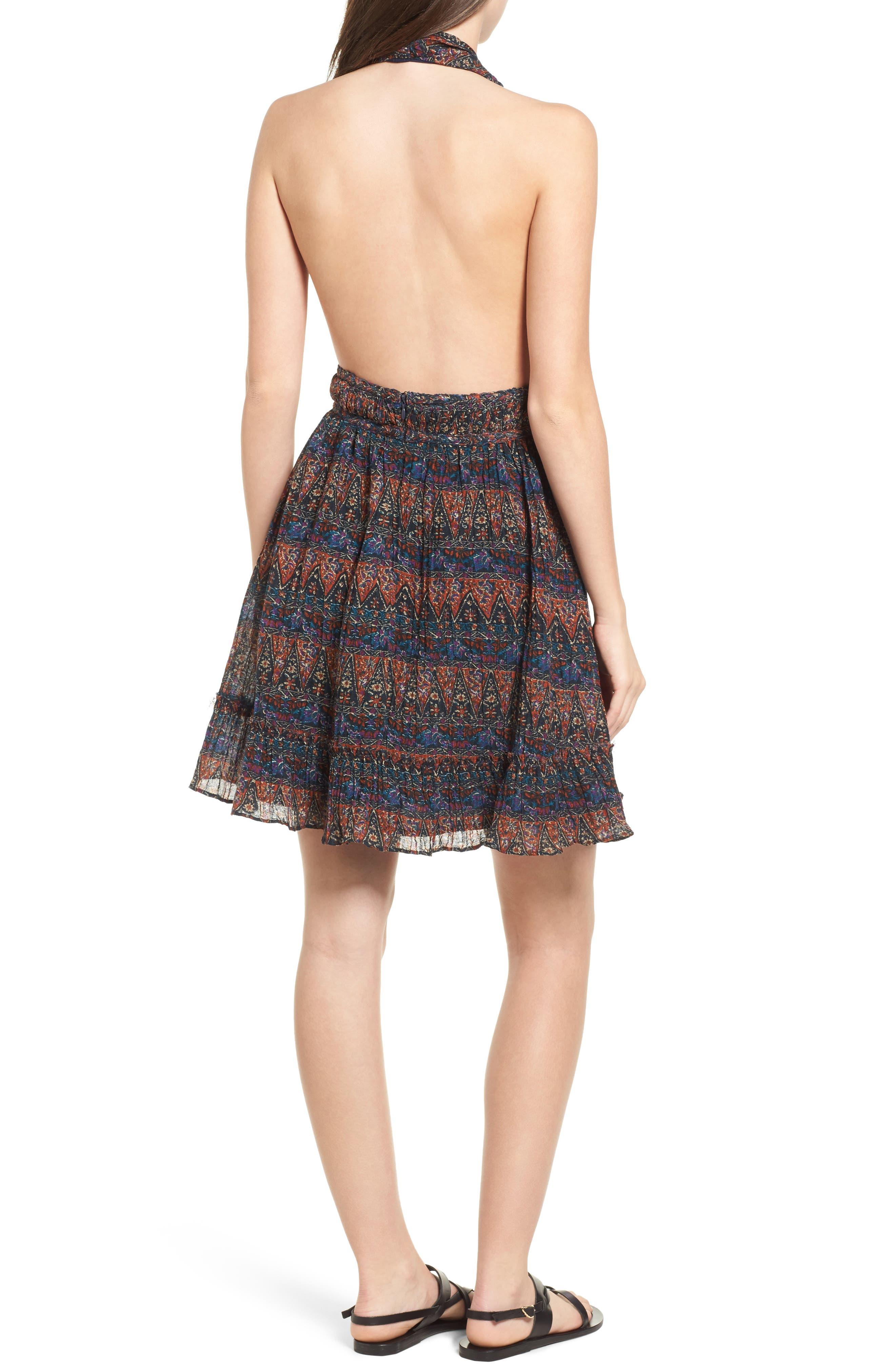 Bali Halter Dress,                             Alternate thumbnail 2, color,                             Dark Multi