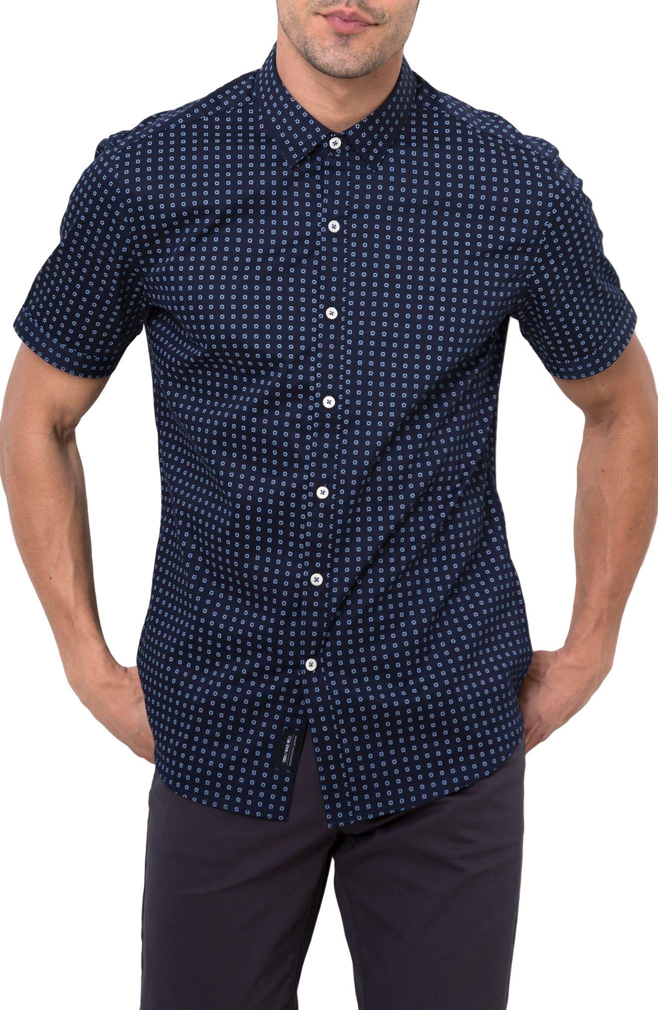 7 Diamonds Professor Rhythm Jacquard Woven Shirt