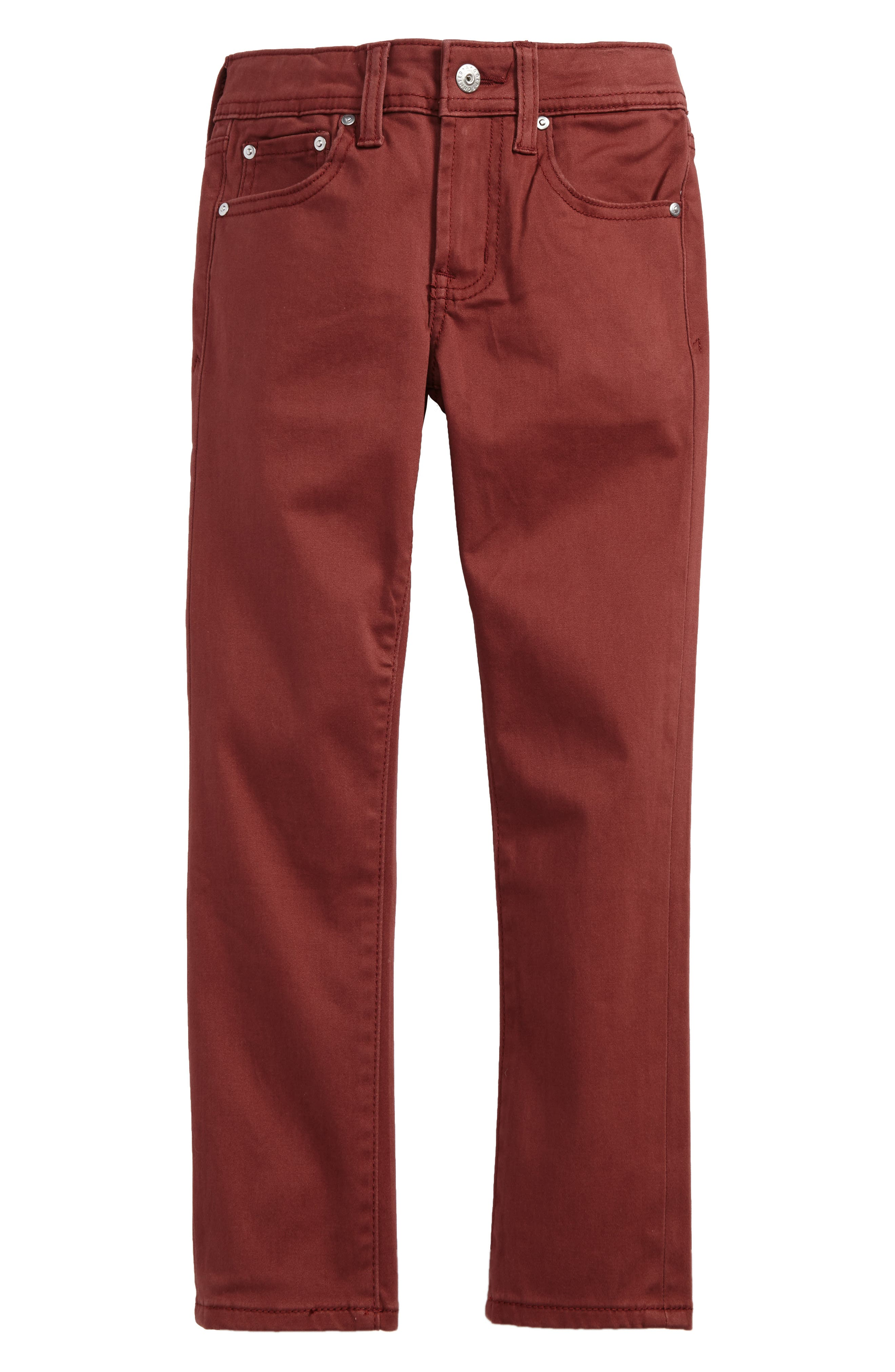 The Kingston Luxe Slim Jeans,                         Main,                         color, Brick