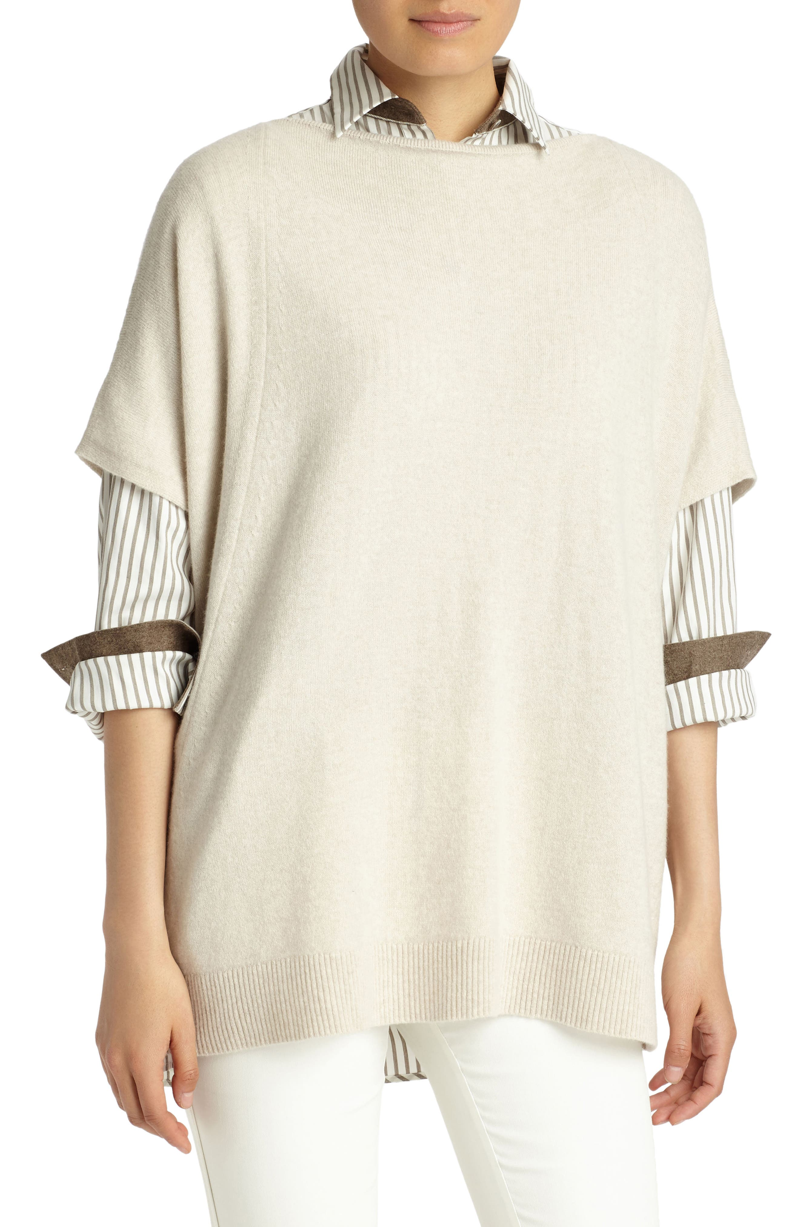 Cashmere Sweater,                             Main thumbnail 1, color,                             Oatmeal Melange