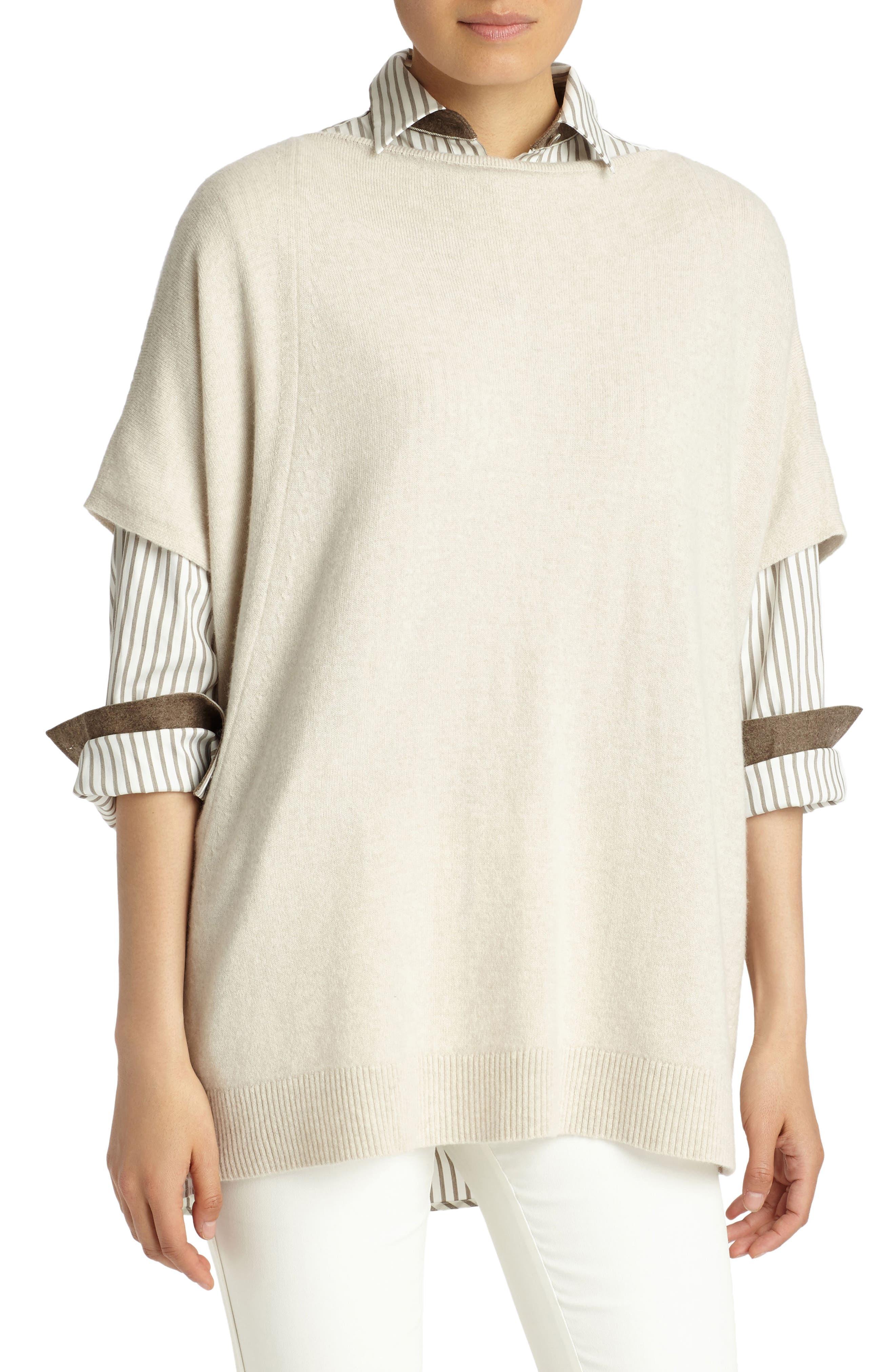Cashmere Sweater,                         Main,                         color, Oatmeal Melange