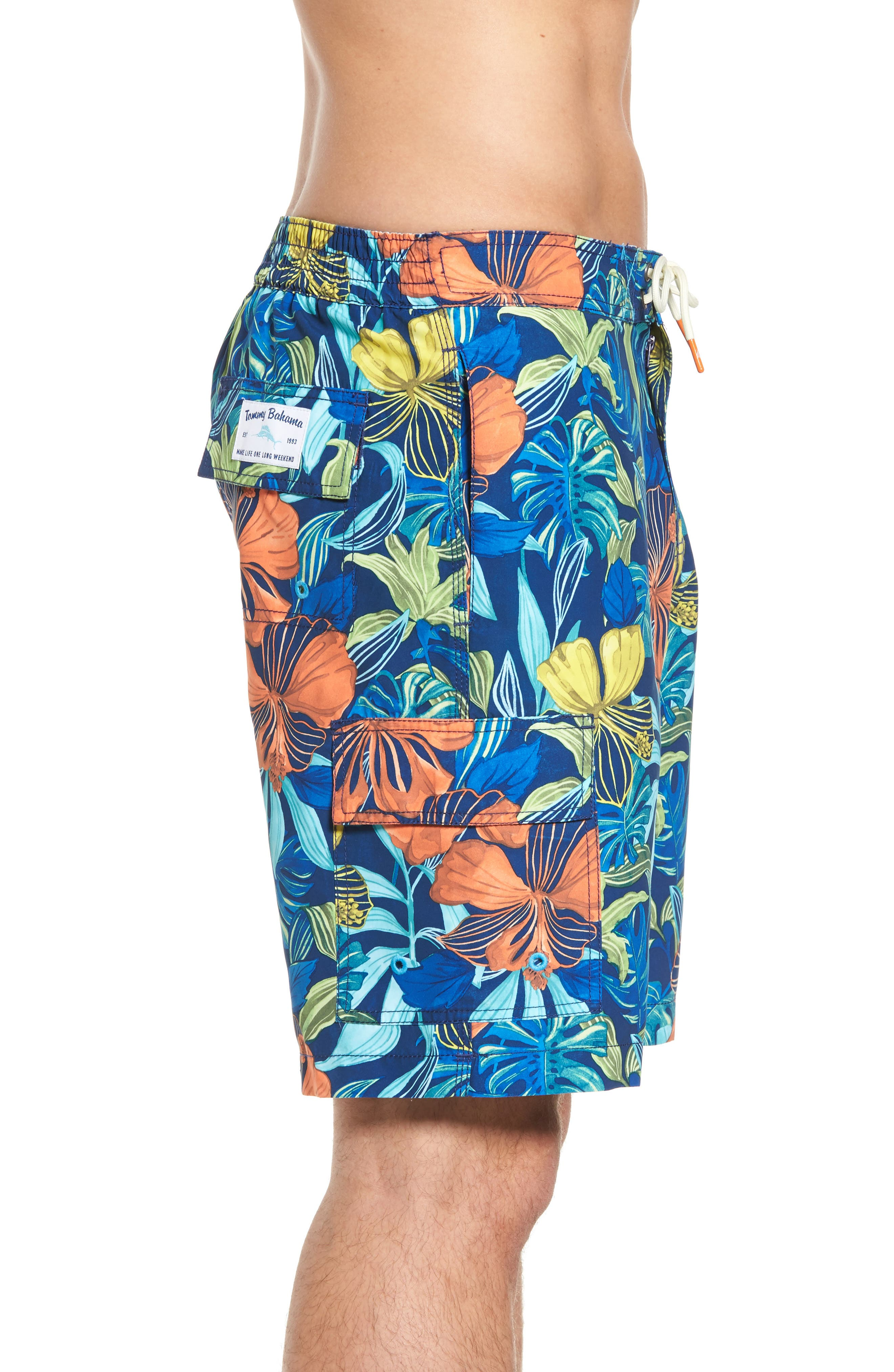 Alternate Image 3  - Tommy Bahama Baja Hibiscus Beach Swim Trunks