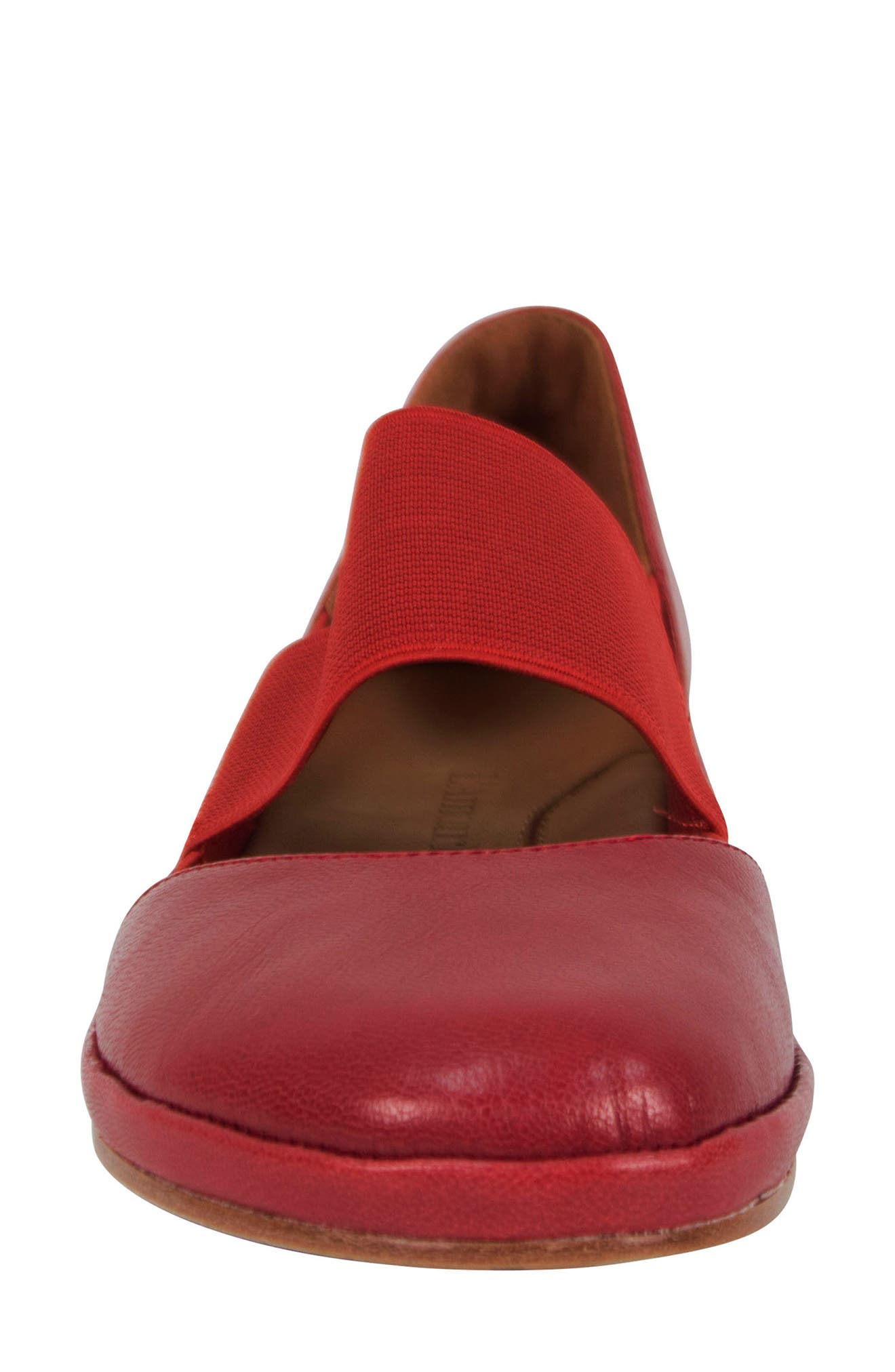 Camile Wedge Pump,                             Alternate thumbnail 5, color,                             Claret Leather