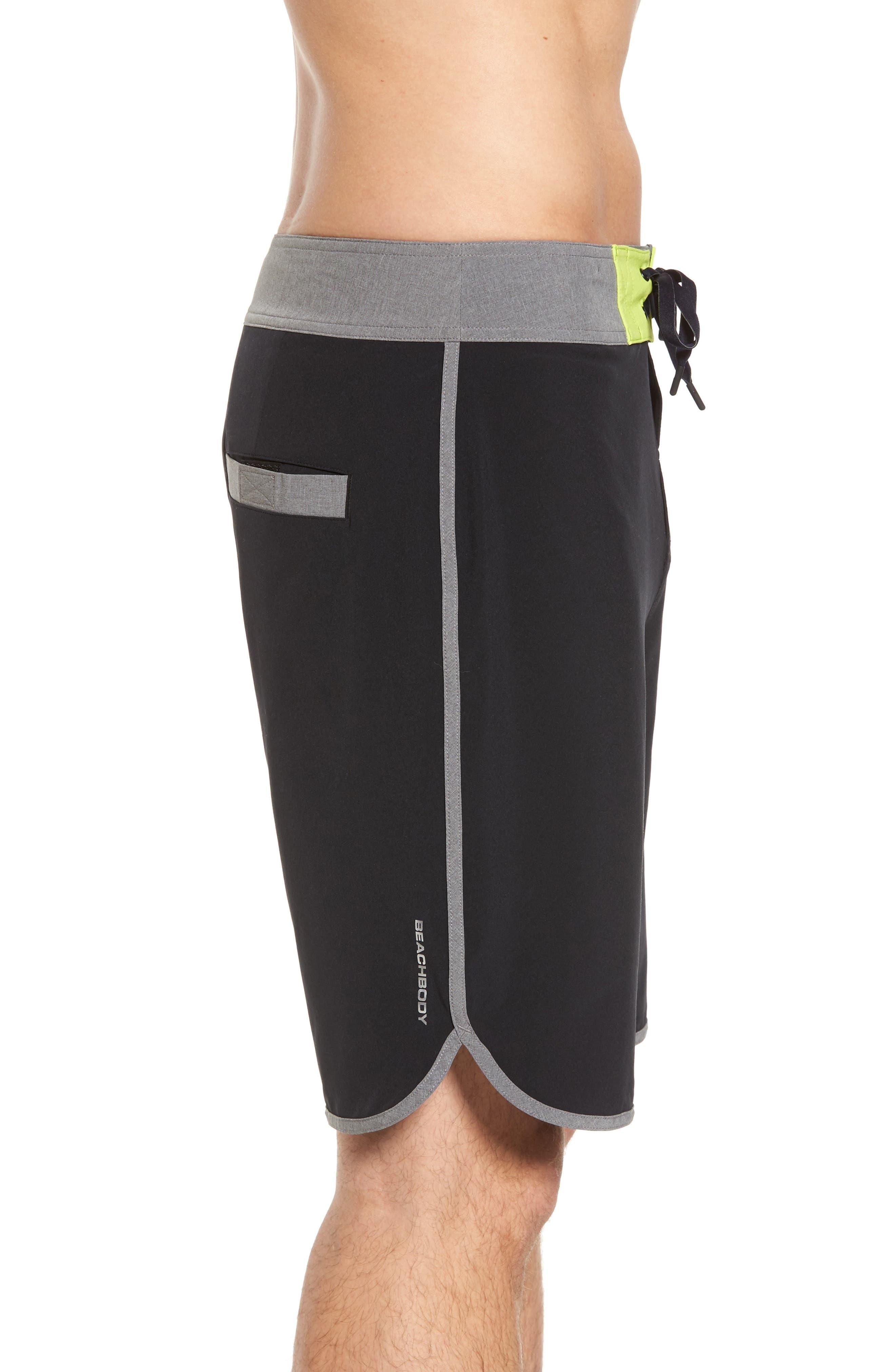 Flex Hybrid Athletic Shorts,                             Alternate thumbnail 3, color,                             Black