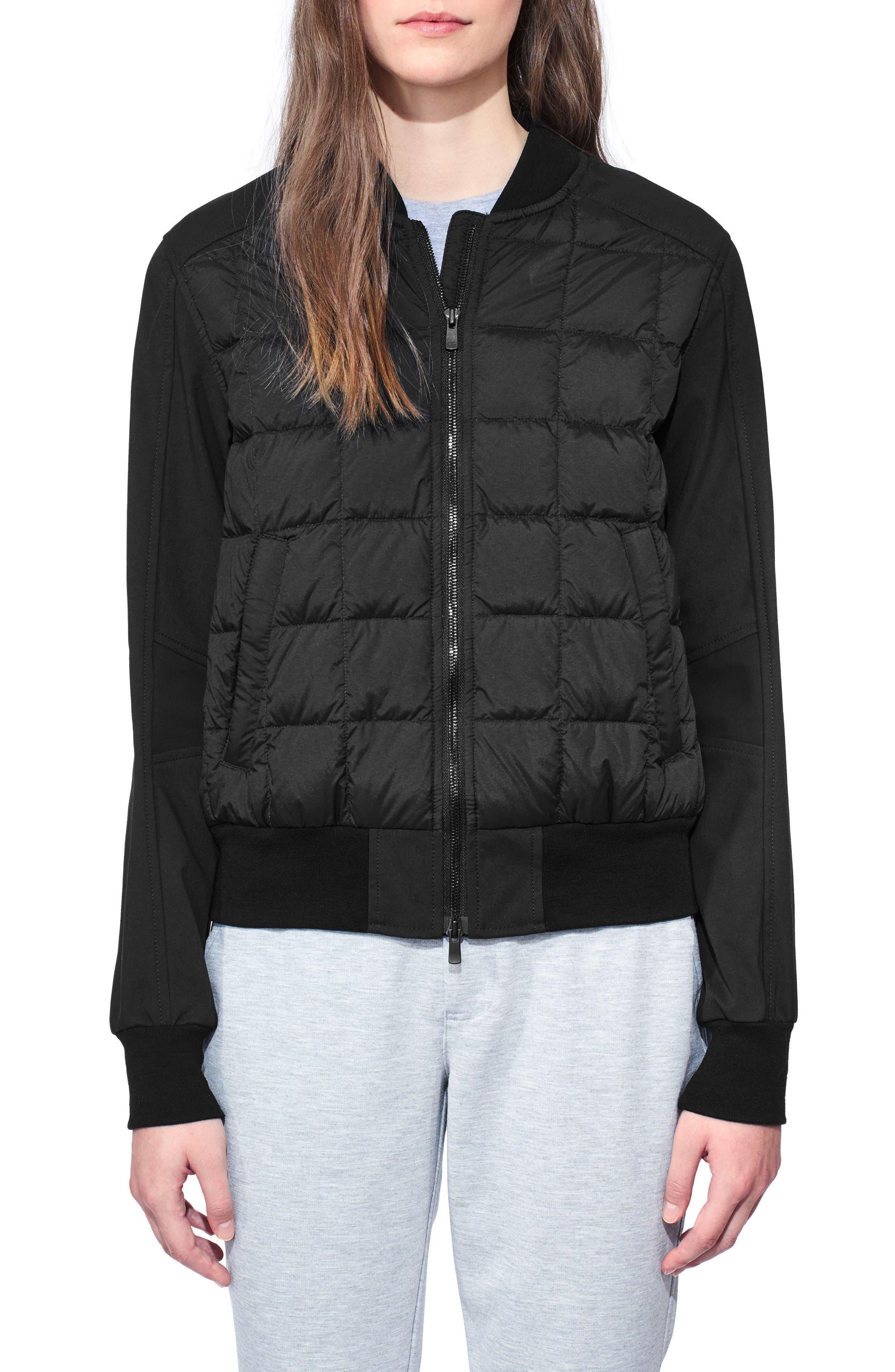 Hanley Down Bomber Jacket,                         Main,                         color, Black/ Black
