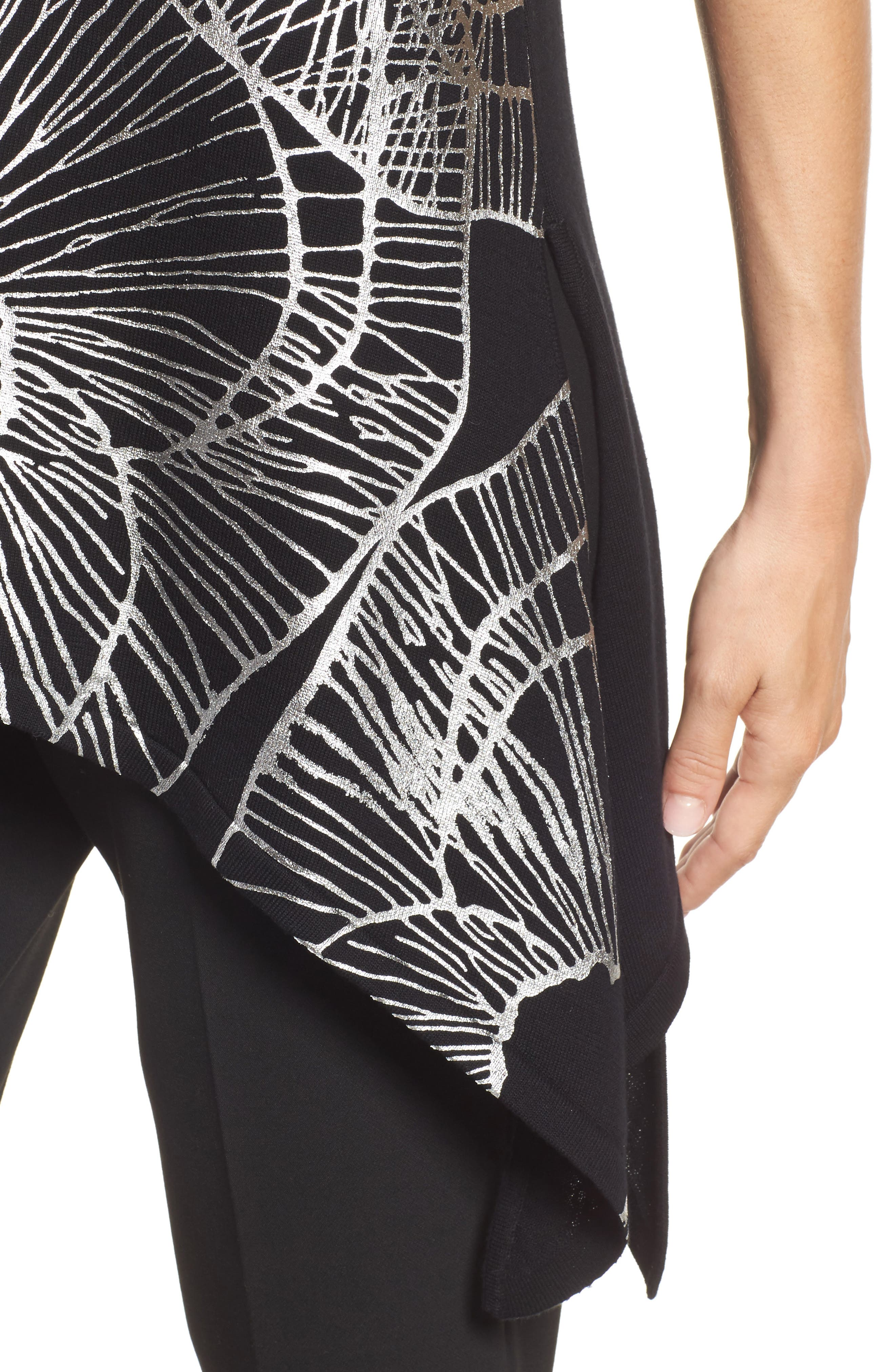 Alternate Image 4  - Ann Klein Sleeveless Asymmetrical Hem Sweater