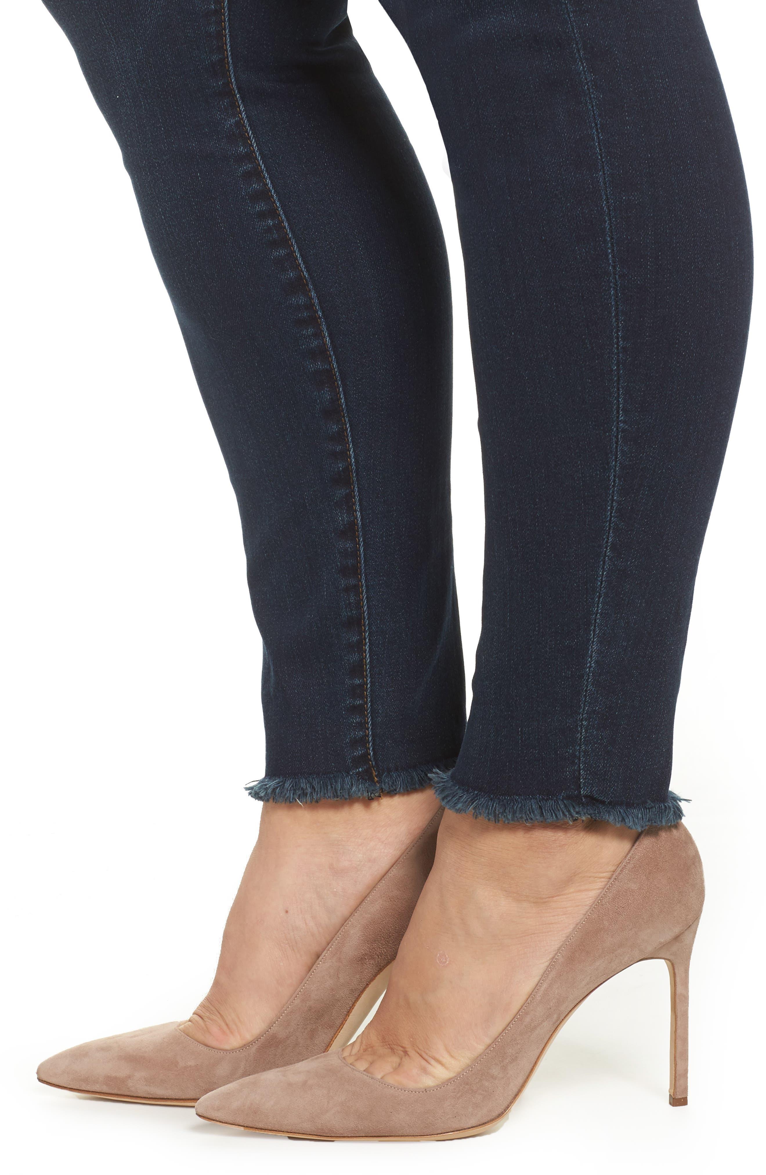 Donna Frayed Skinny Crop Jeans,                             Alternate thumbnail 4, color,                             Certitude