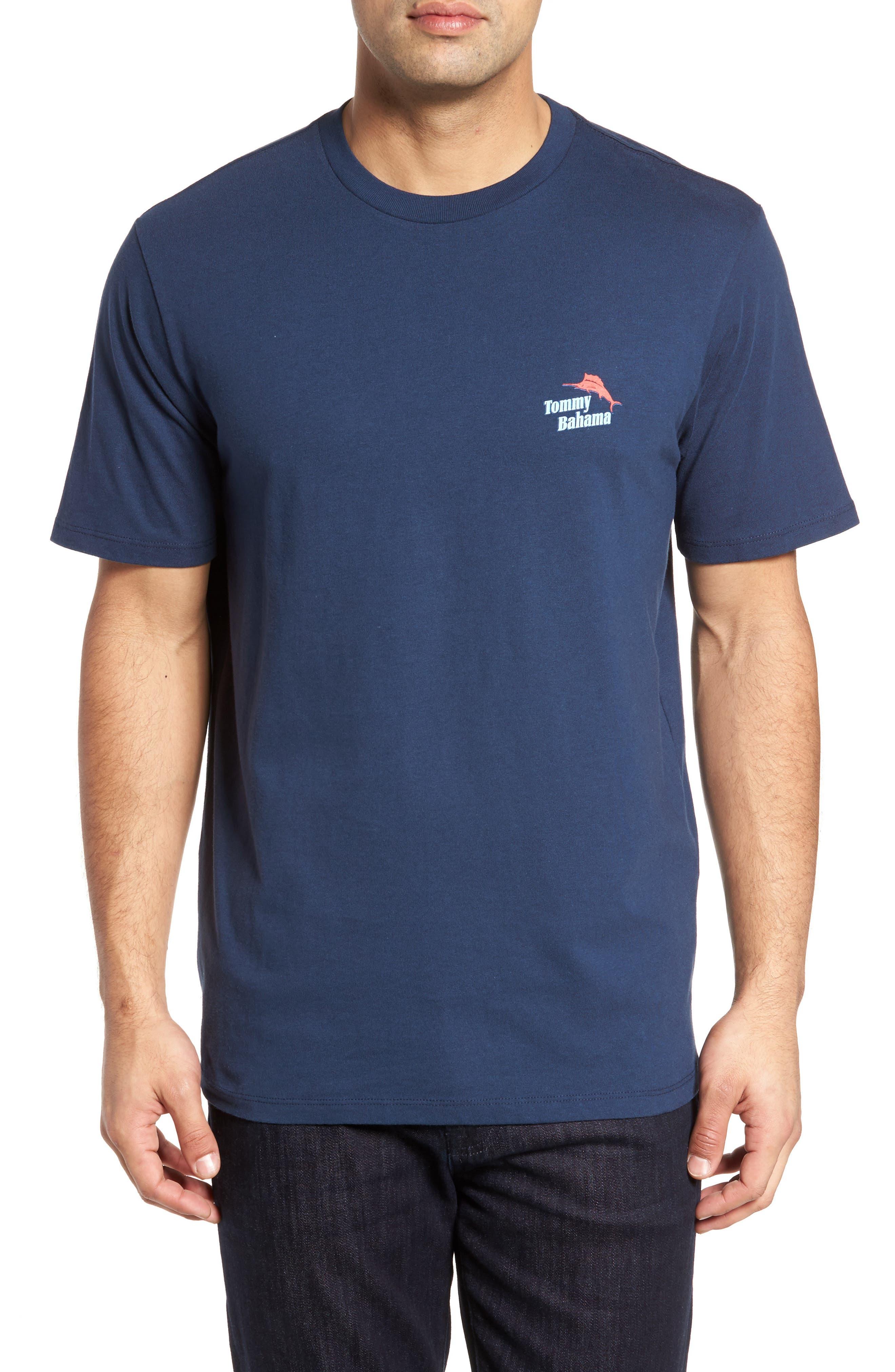 Parrot Sailing T-Shirt,                         Main,                         color, Navy