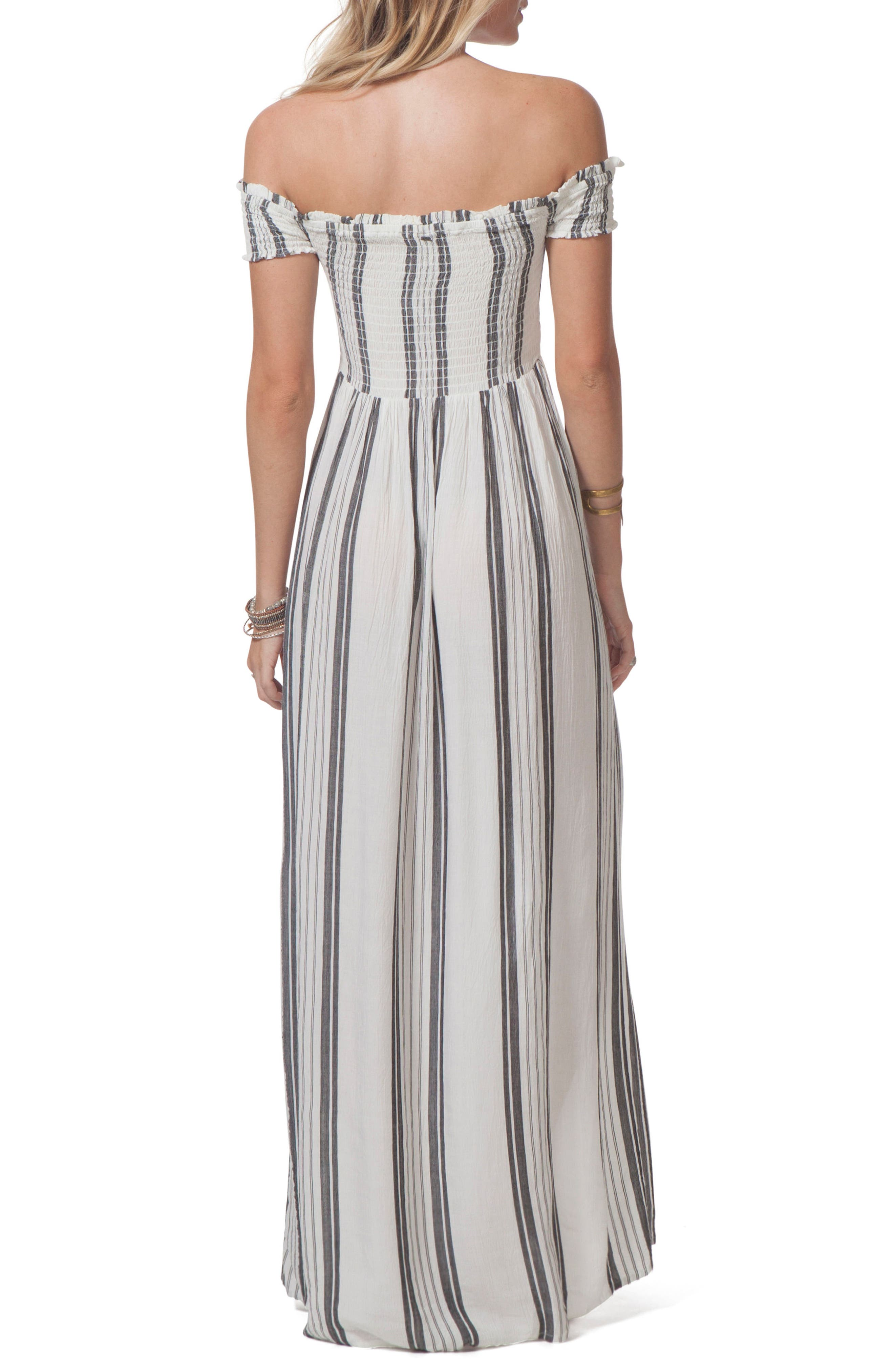 Soulmate Off the Shoulder Maxi Dress,                             Alternate thumbnail 2, color,                             White